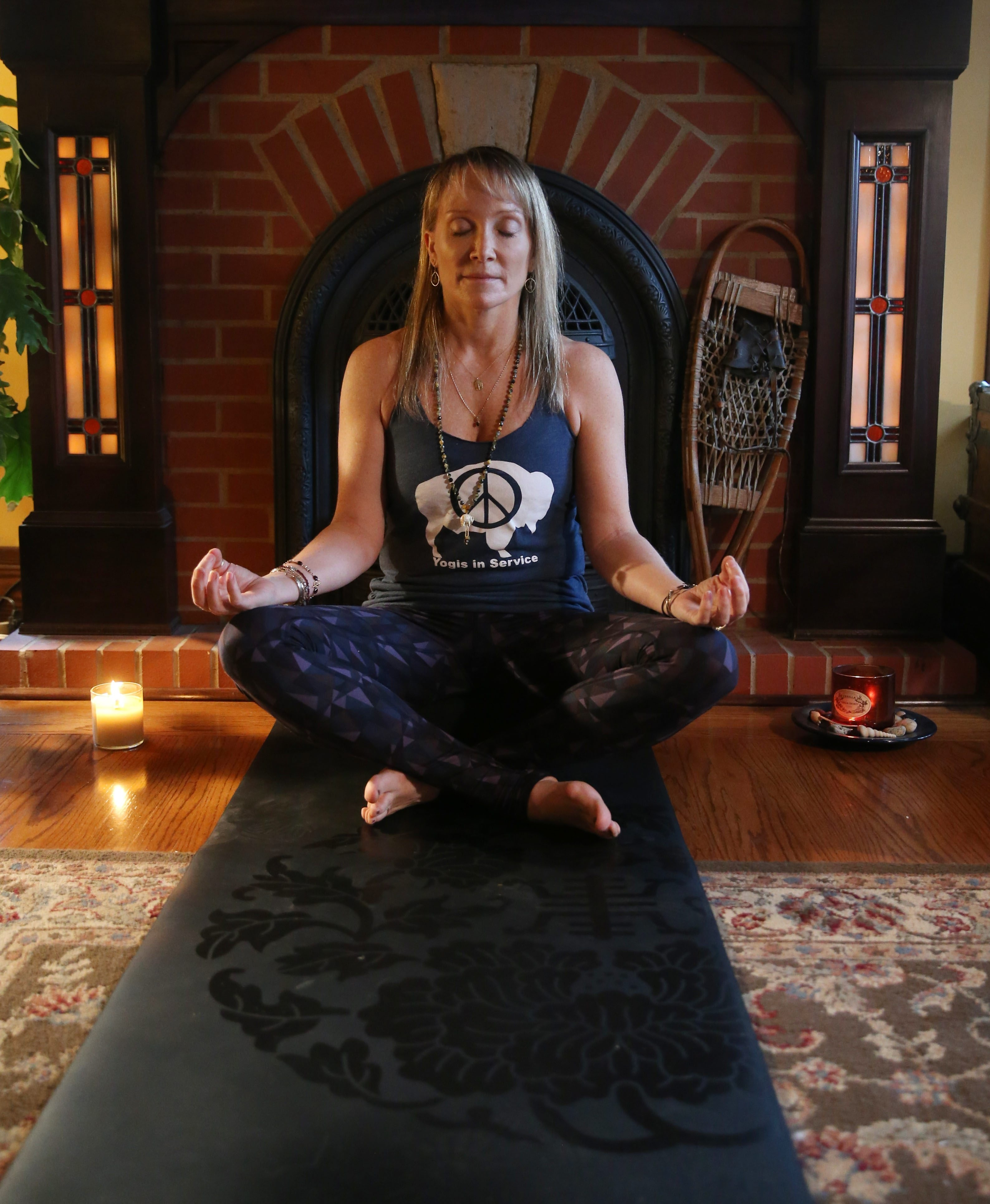 Catherine Cook-Cottone, a licensed psychologist and an associate professor of education at the University at Buffalo,  also teaches yoga. She suggests meditation to help relieve stress.