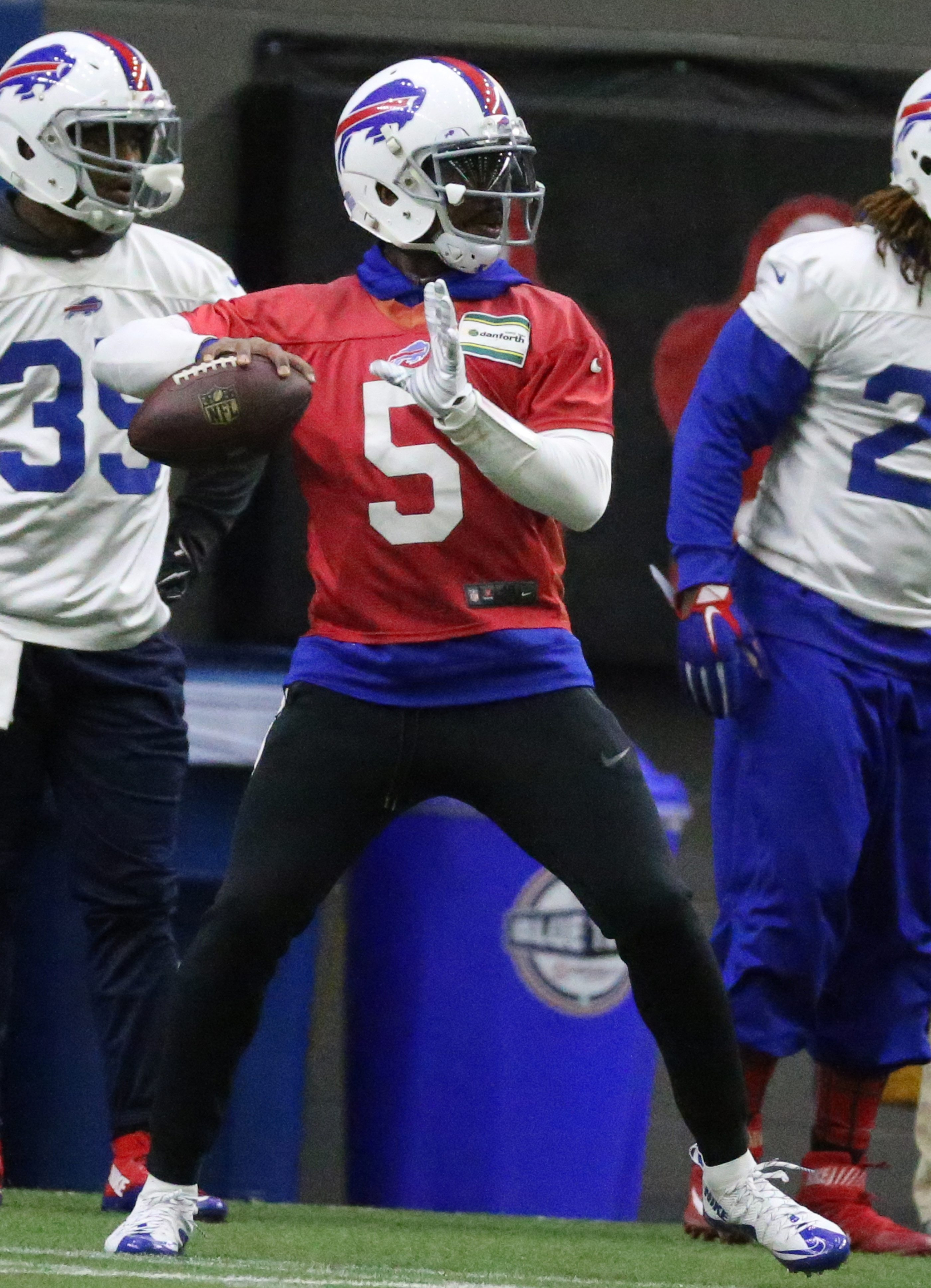 Tyrod Taylor was limited in practice Wednesday and expects to play against the Jets on Sunday.
