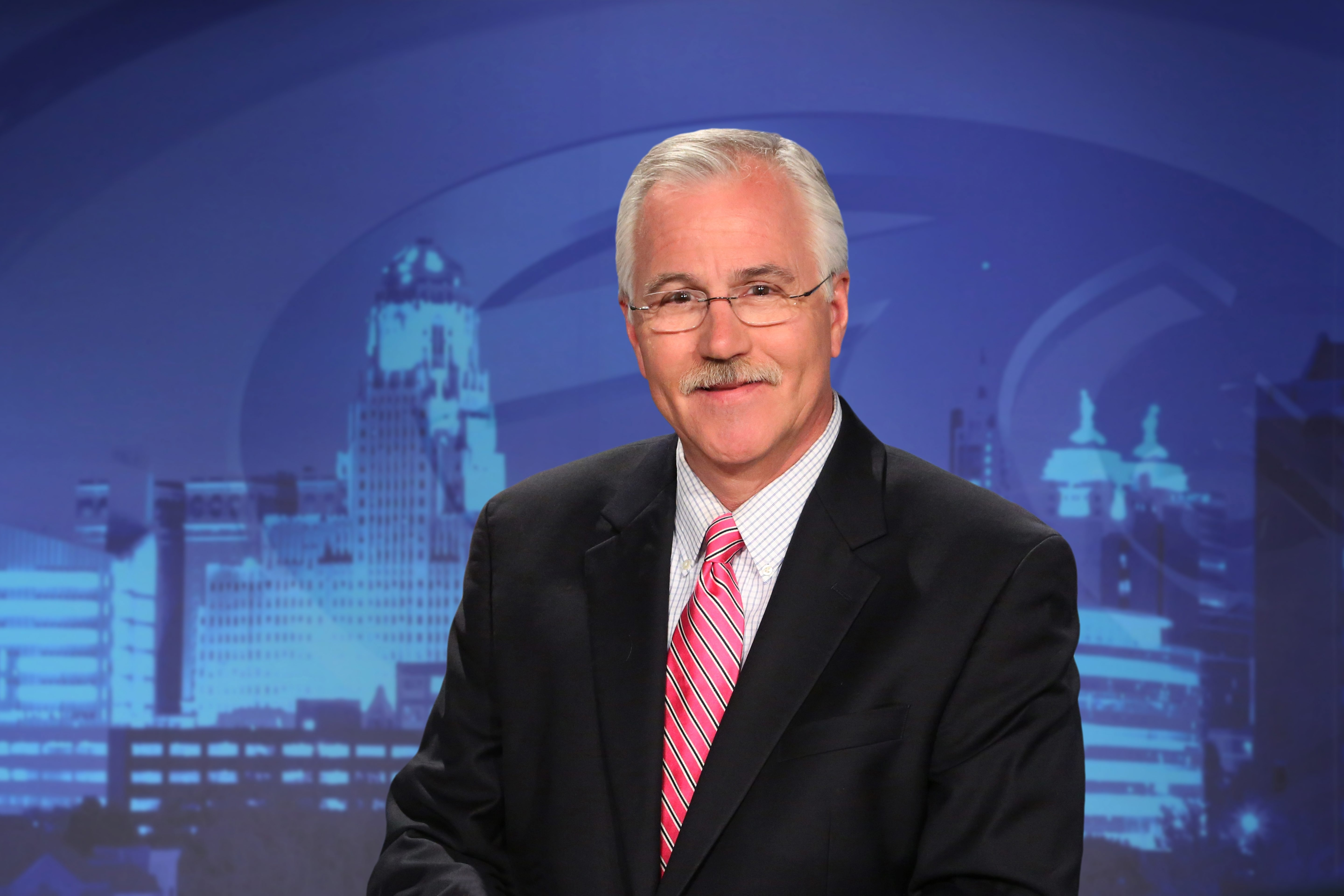"""Channel 7's Mike Randall is in the running for """"America's Favorite Weathercaster."""" Meanwhile, it looks like the station has found its replacement for former news anchor Joanna Pasceri, right."""