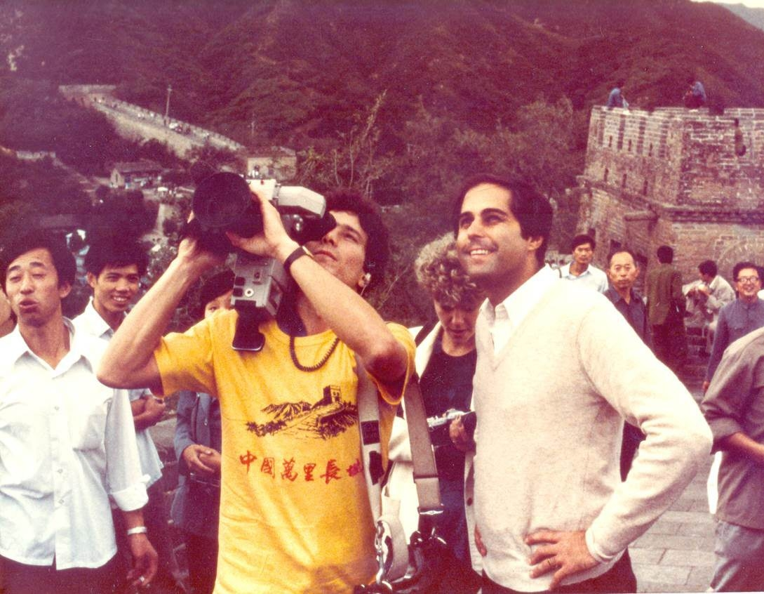 Rich Newberg and photographer Mike Mombrea Jr. at the Great Wall of China.