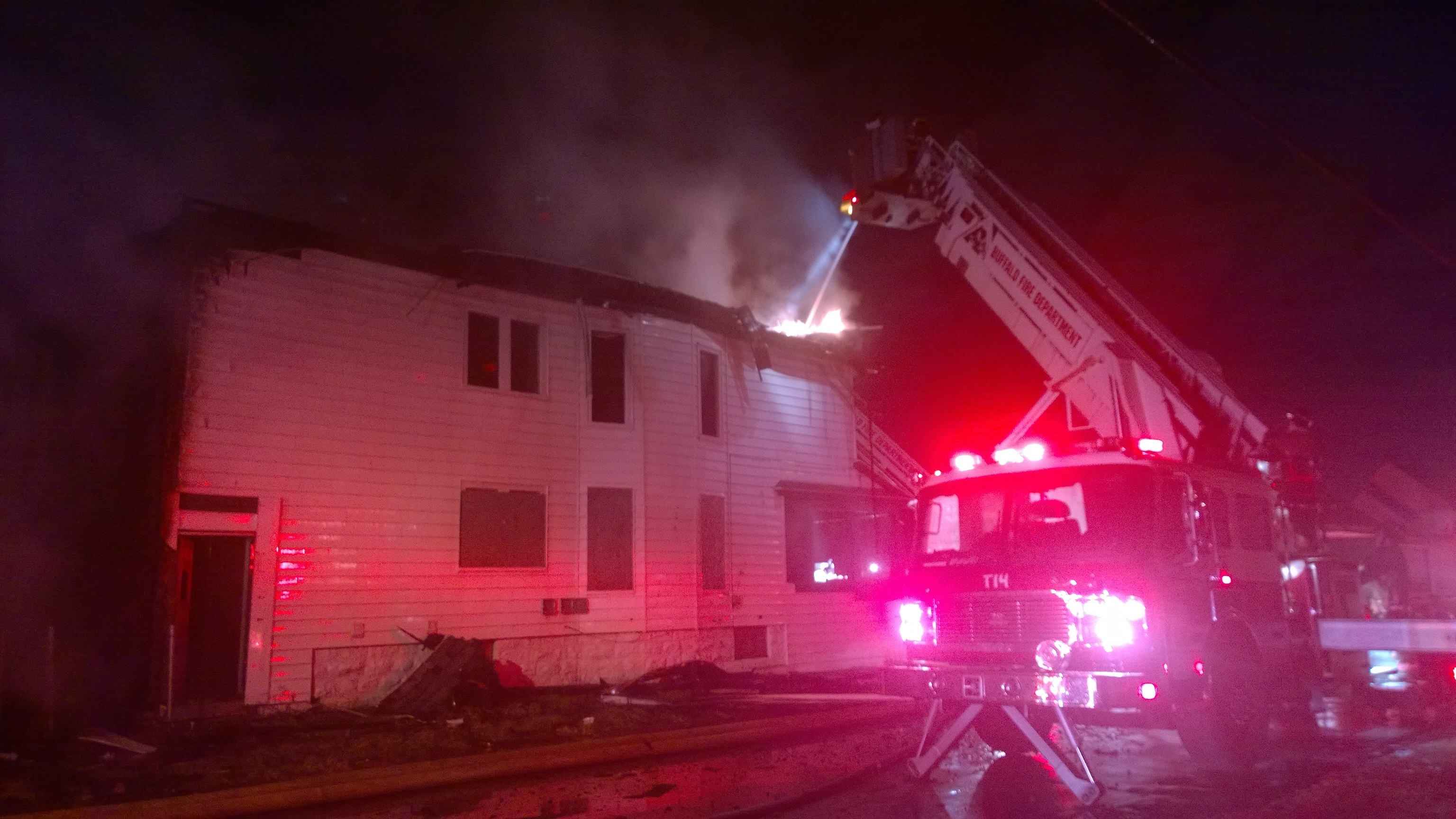 A fire overnight damaged a vacant home 82 Shepard St. and damaged the house next door.