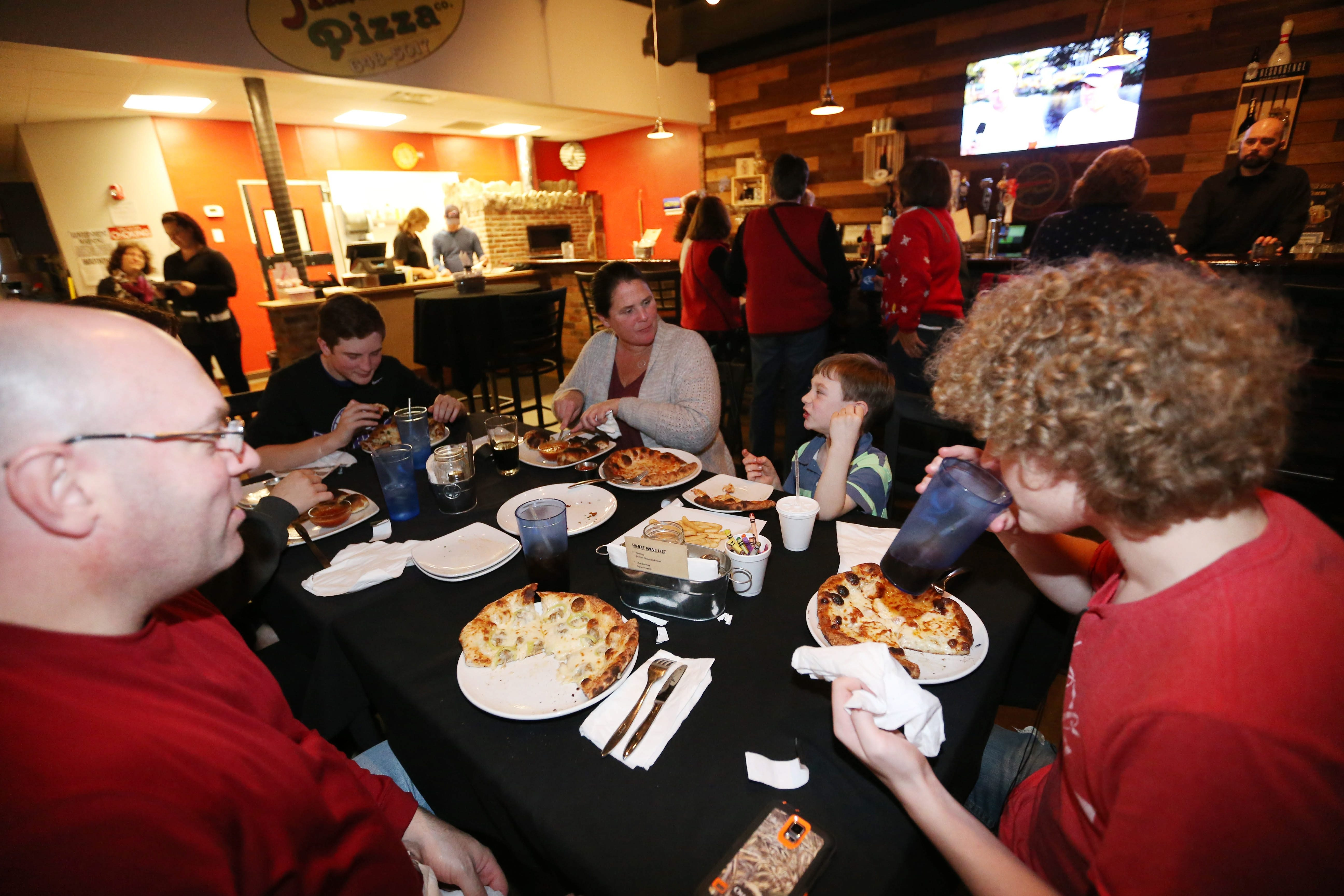 The Miller family of Hamburg has dinner at Butera's. See a photo gallery at buffalonews.com