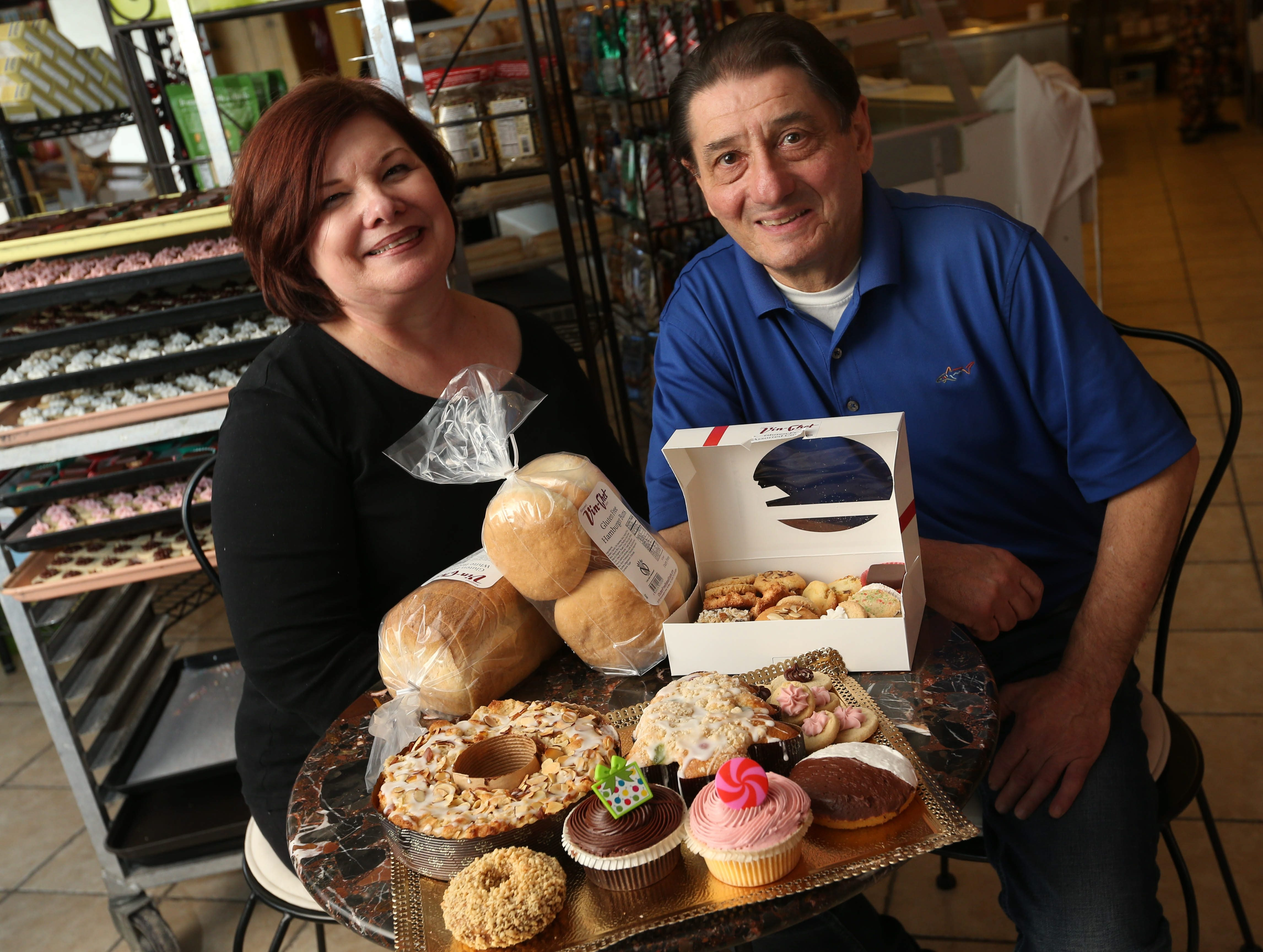 """We are not celiac ourselves but we like to eat, and we know what tastes good, and we are bakers, so we kept working."" – Nancy and Joseph Mangano, owners of Vin-Chet Bakery in Amherst, began introducing gluten-free baked goods in 2007 and now that is all they make."