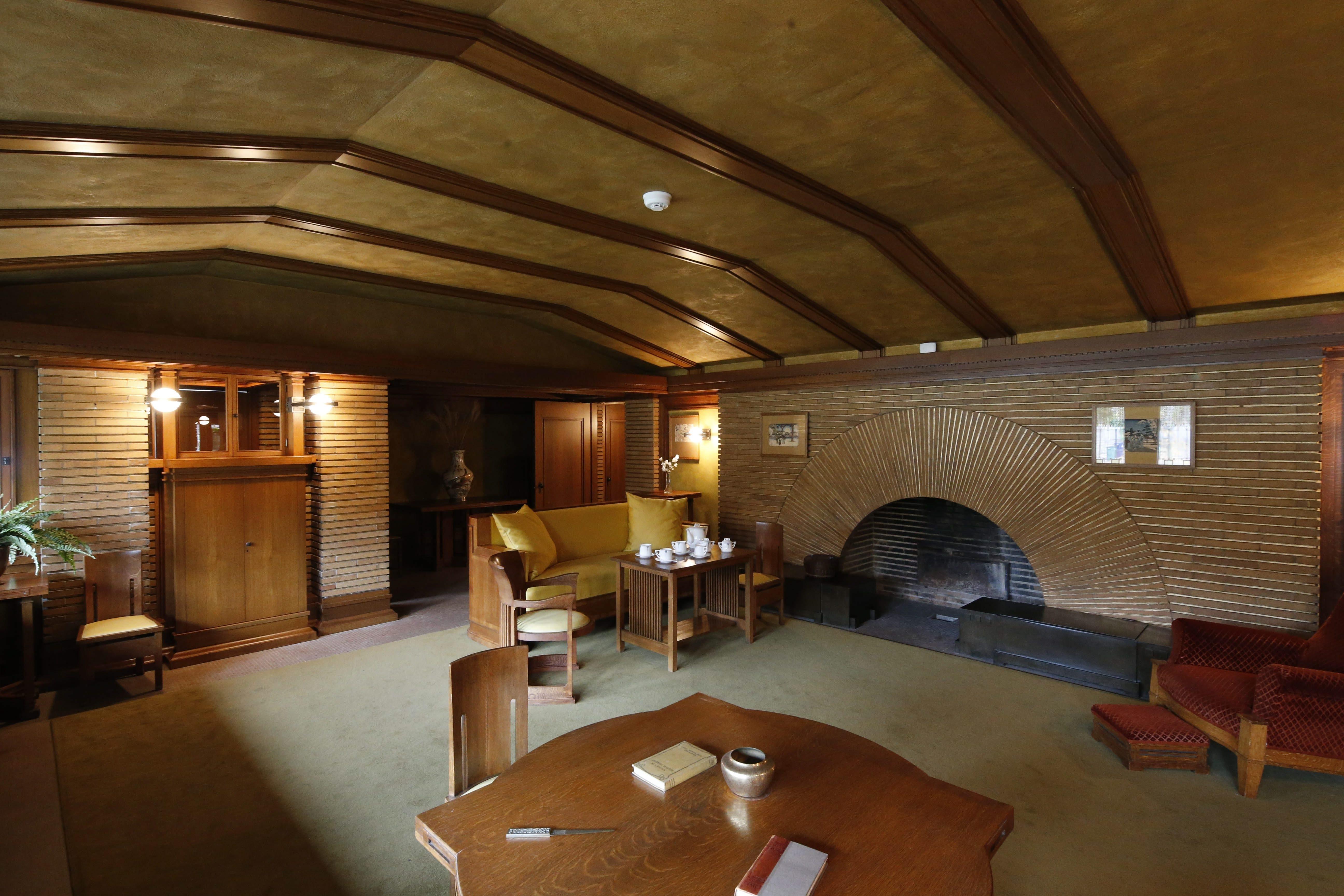 An interior view of the Darwin Martin House as seen Nov. 12.