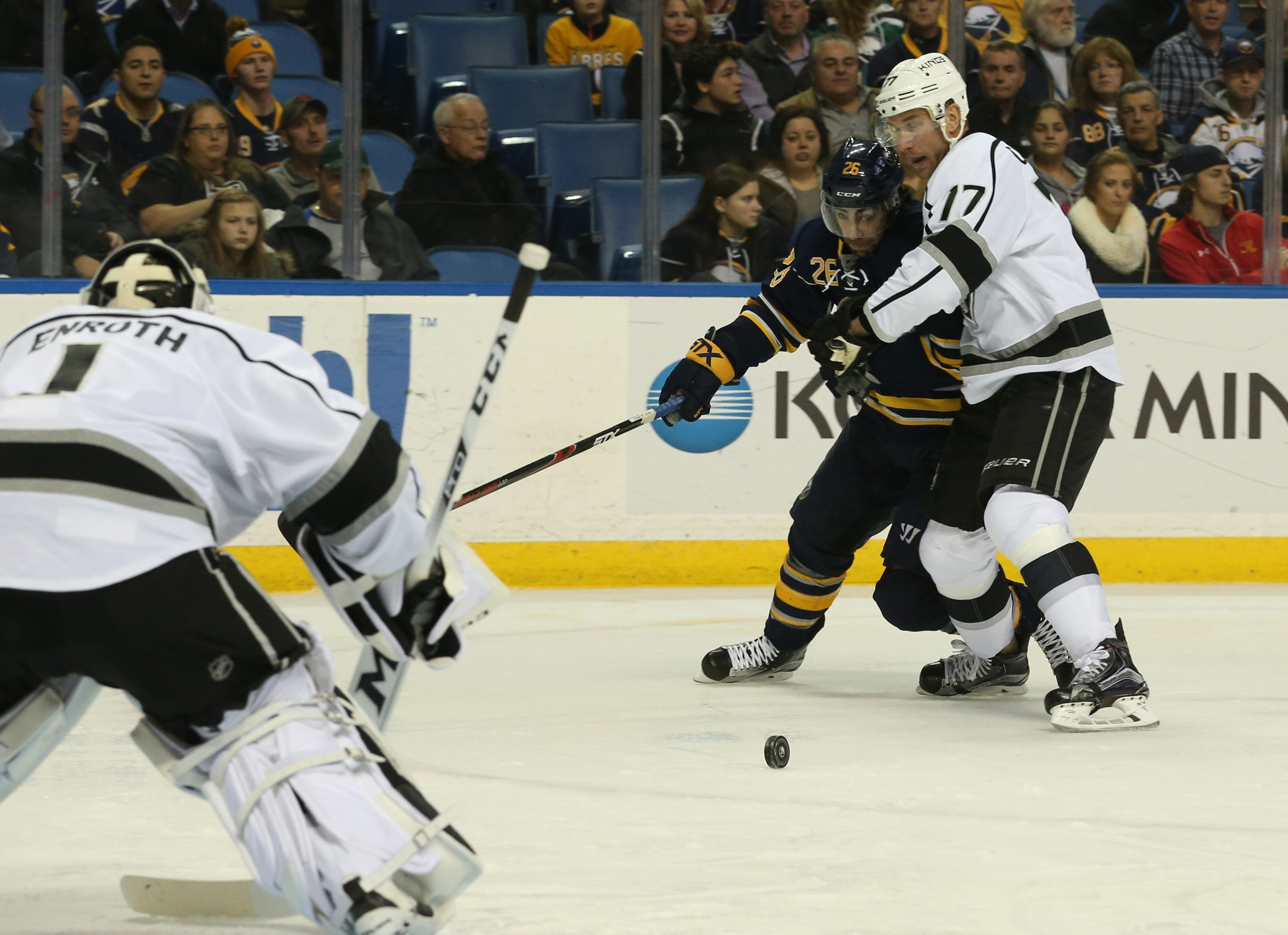 Sabres coach Dan Bylsma has directed forward Matt Moulson to get near the net for rebounds and deflections.