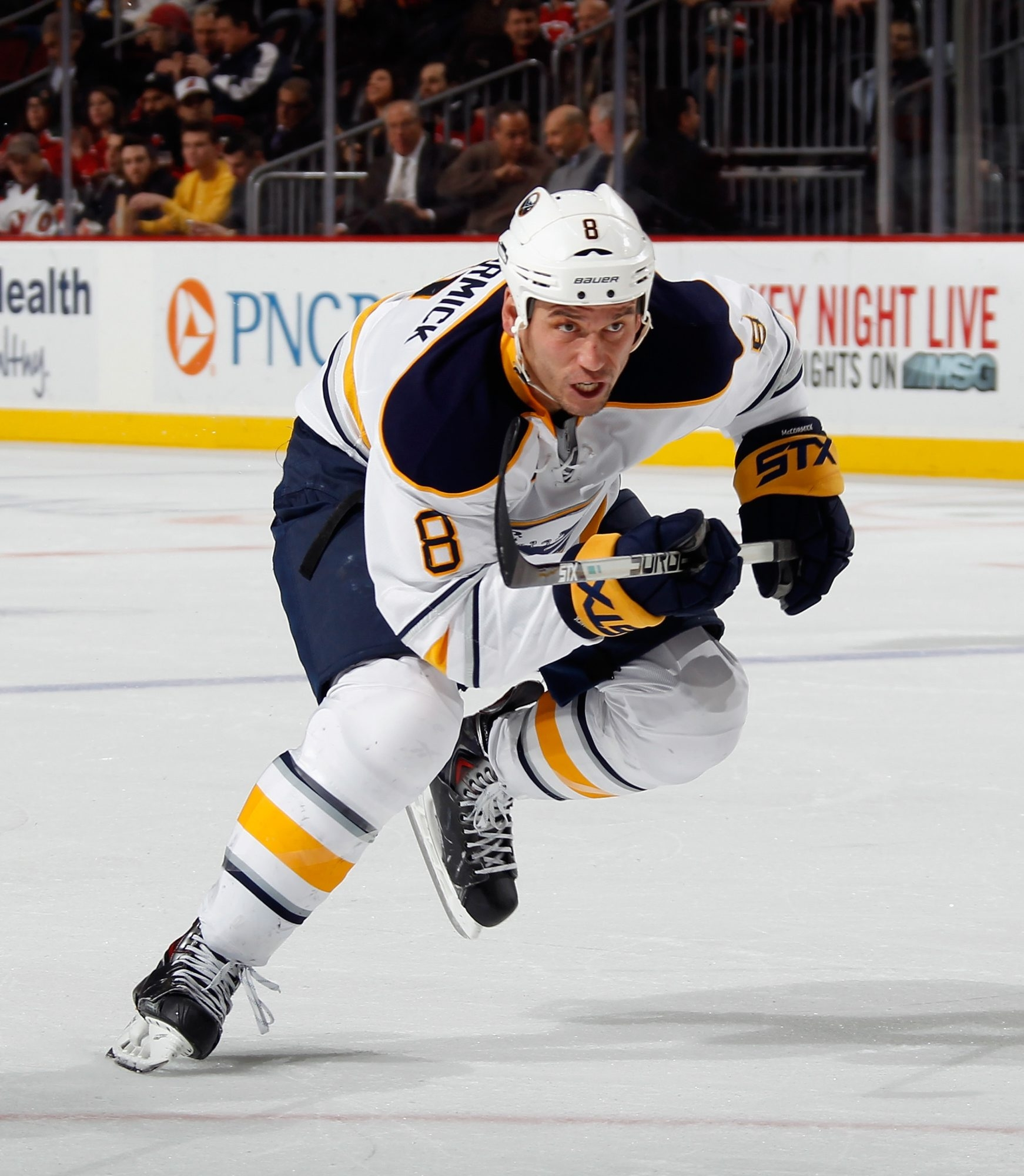 Cody McCormick's last game for the Sabres was Jan. 9 in Tampa Bay.  He's missed two months of last season and all of this one.