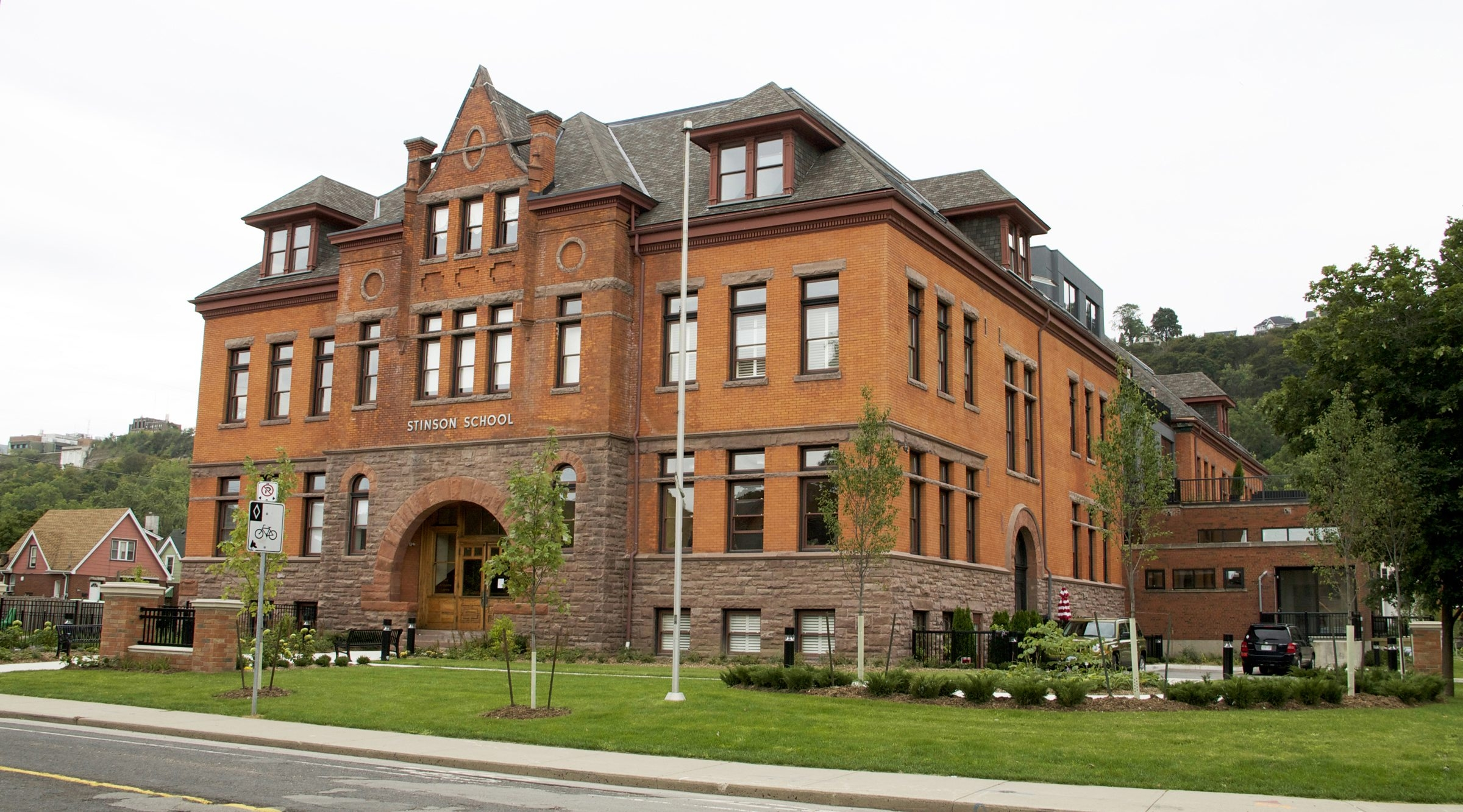 Harry Stinson converted the Stinson School in Hamilton, Ont., into condominiums. The project was completed in December 2013.