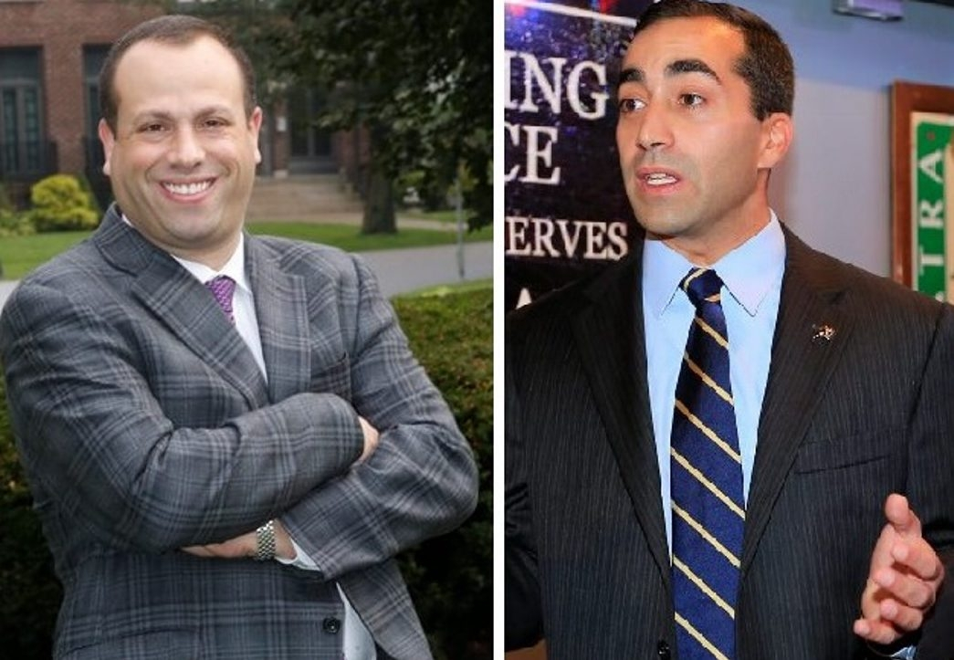 Republican Peter A. Rouff, left, and Democrat Joel P. Feroleto spent a combined total of  $126,164 in the Delaware District council race. Feroleto won. (News file photos)