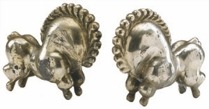 This pair of tin figures can dance across the floor when wound with a key. They were made about 1916, when the tango was the most popular dance. The pair sold at a June auction for $3,851.