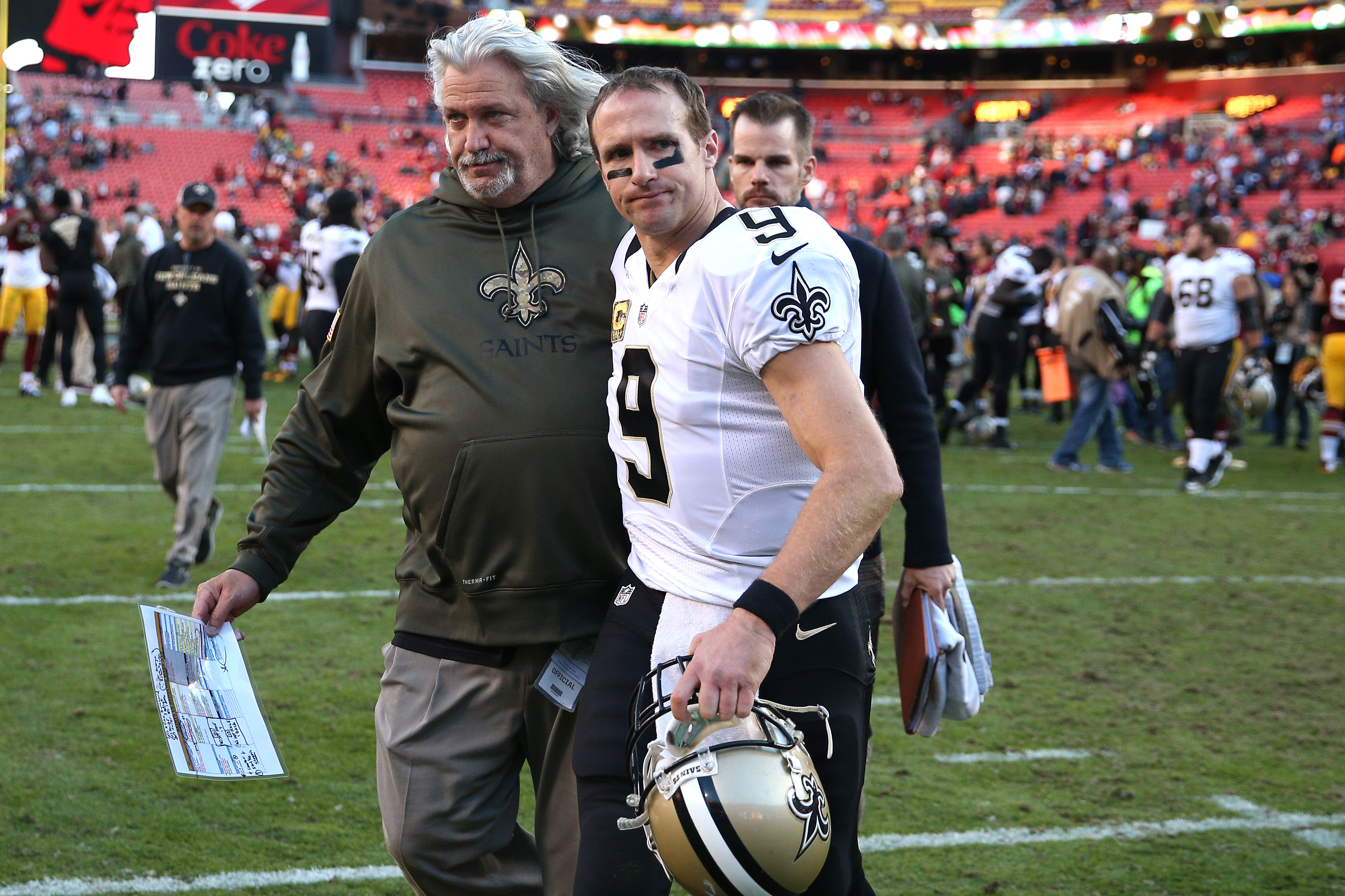 Saints defensive coordinator Rob Ryan, left, lost his job after an embarrassing 47-14 loss to the Washington Redskins in Week 10. Ryan has faced Philadelphia, the Bills' next opponent.