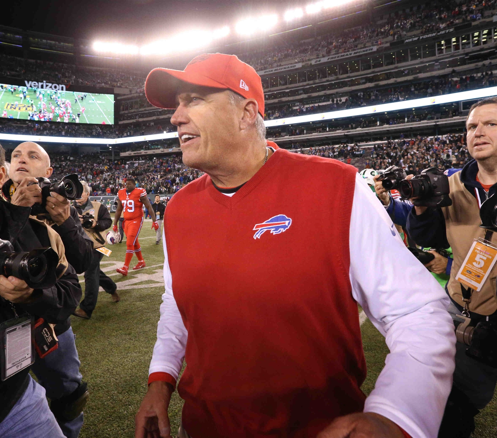 Rex Ryan was fired up to win at his former team earlier this season. (James P. McCoy/Buffalo News)