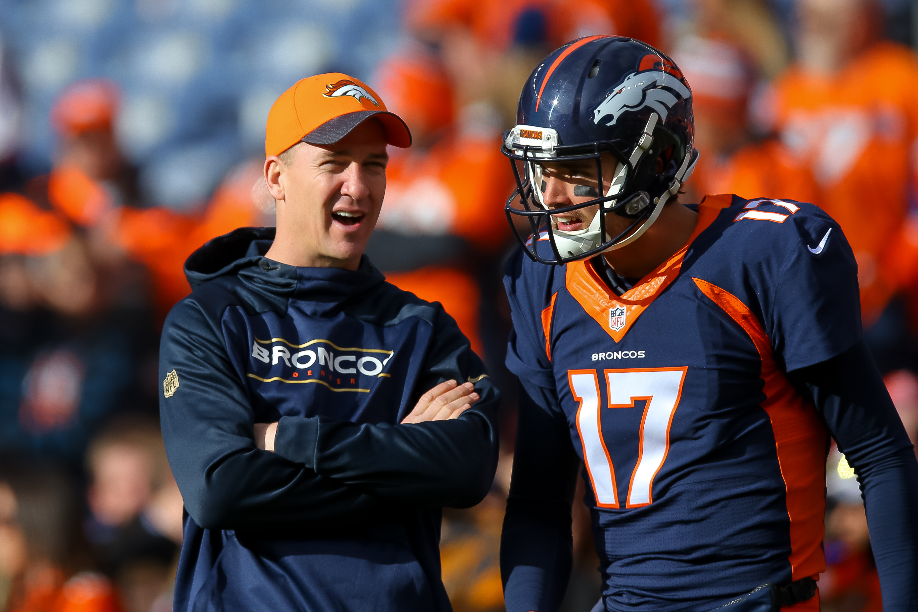 The Game of the Day features Peyton Manning sitting out as Brock Osweiler gets the start against the Steelers. (Getty Images)