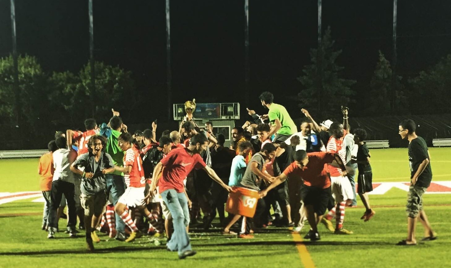 Championship Division team FC Yemen won the 2015 Tehel Cup, igniting a celebration among the team and the Yemeni soccer community. (Ben Tsujimoto/Buffalo News)