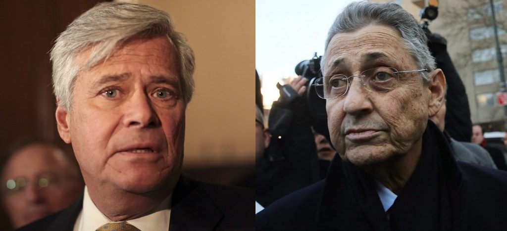 To cap off the year, this fall saw the conviction on corruption charges of former state Assembly Speaker Sheldon Silver, top, and former Senate Majority Leader Dean Skelos. (News wire services)