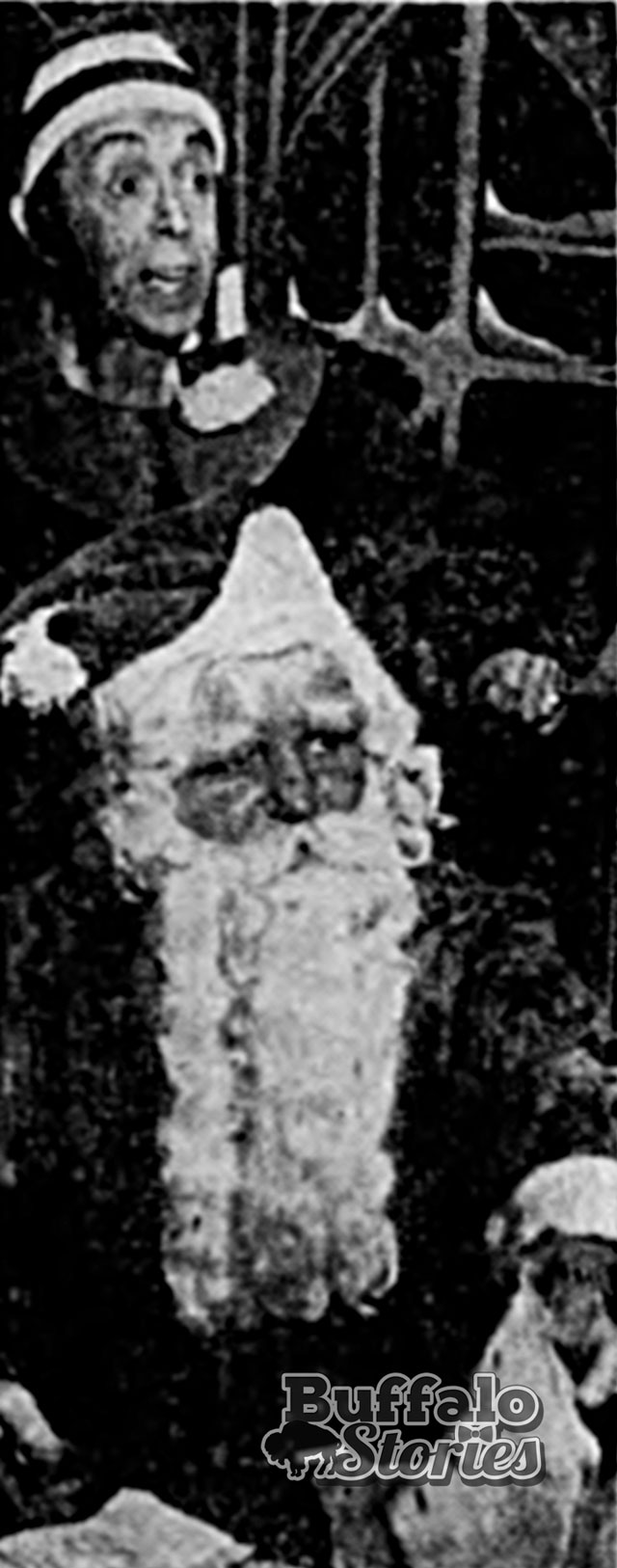 Eisenberger as Forgetful and Peters as Santa. (Buffalo Stories archives/Steve Cichon collection)