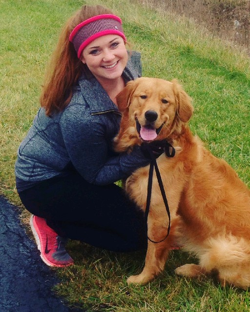 Sarah Frank and her dog, Wilson, run together regularly.