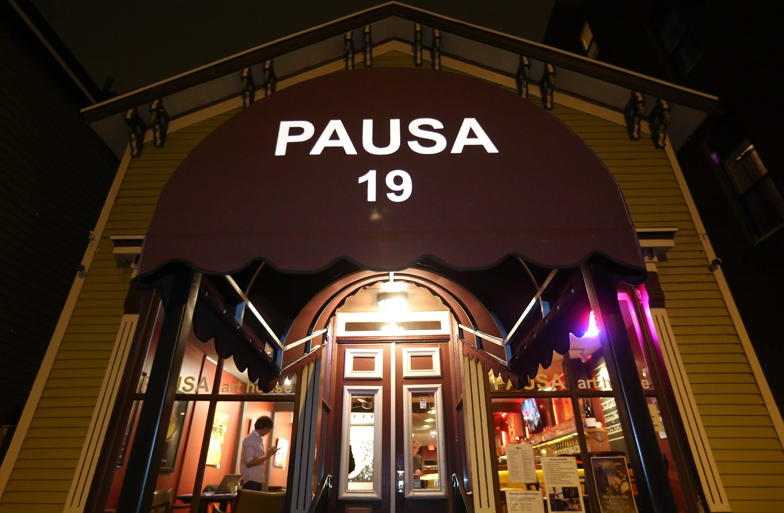 The exterior of the Pausa Art House at 19 Wadsworth St. in Allentown. (Sharon Cantillon/Buffalo News)