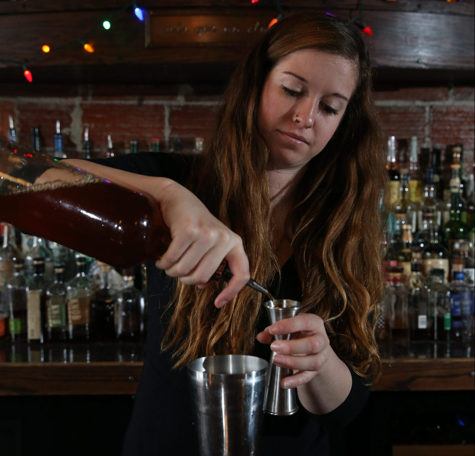 Mes Que's Rachel Wright will be everywhere during Nickel City Drink, speaking at the Twentieth Century Club, and mixing drinks at the opening and closing parties, as well as seven events at Mes Que. (Sharon Cantillon/Buffalo News)