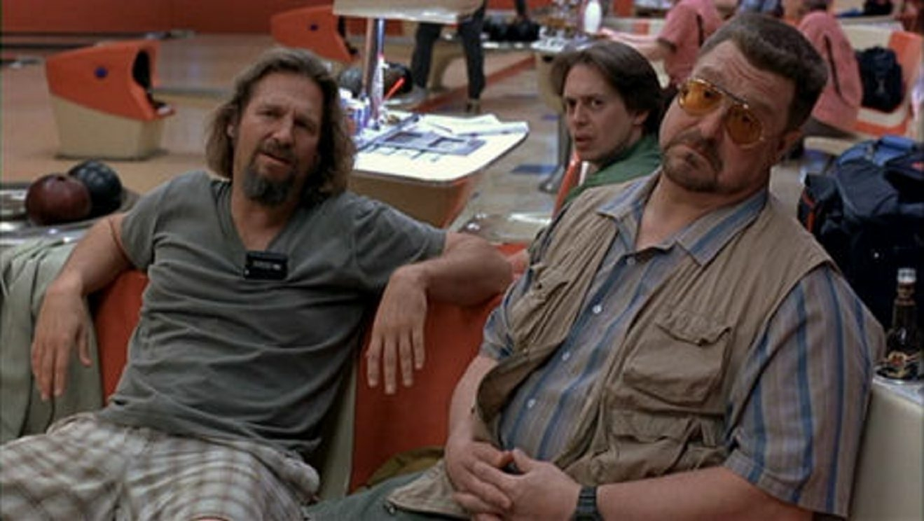 The Riviera Theatre will host a 'Big Lebowski' Party on Jan. 14. The film stars, Jeff Bridges, left, Steve Buscemi (background) and John Goodman.