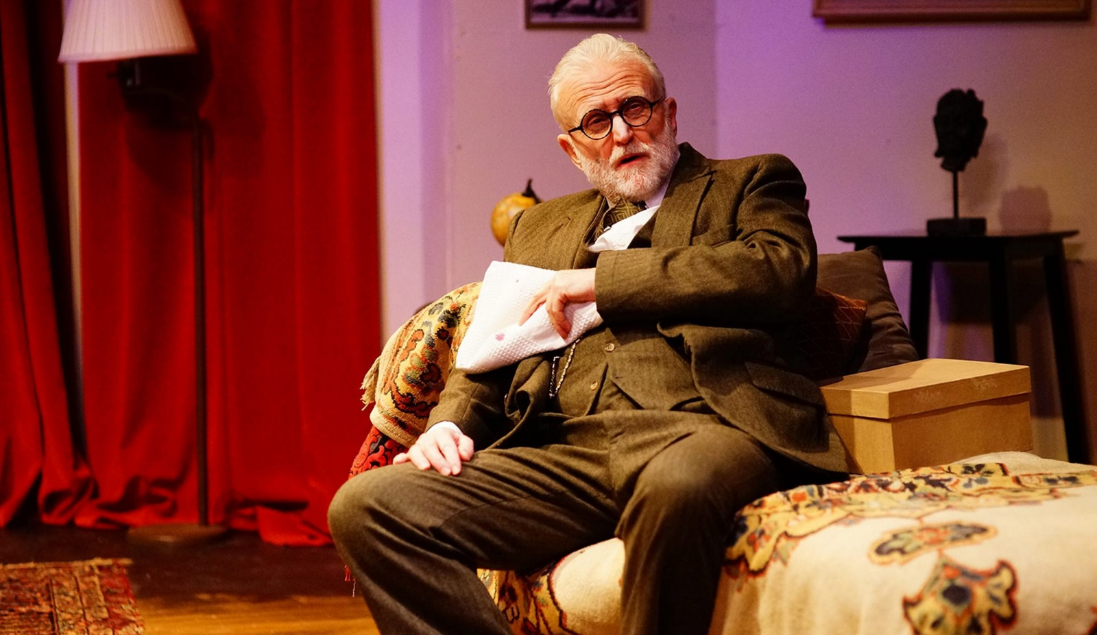 David Oliver stars in 'Freud's Last Session' at Road Less Traveled Productions.