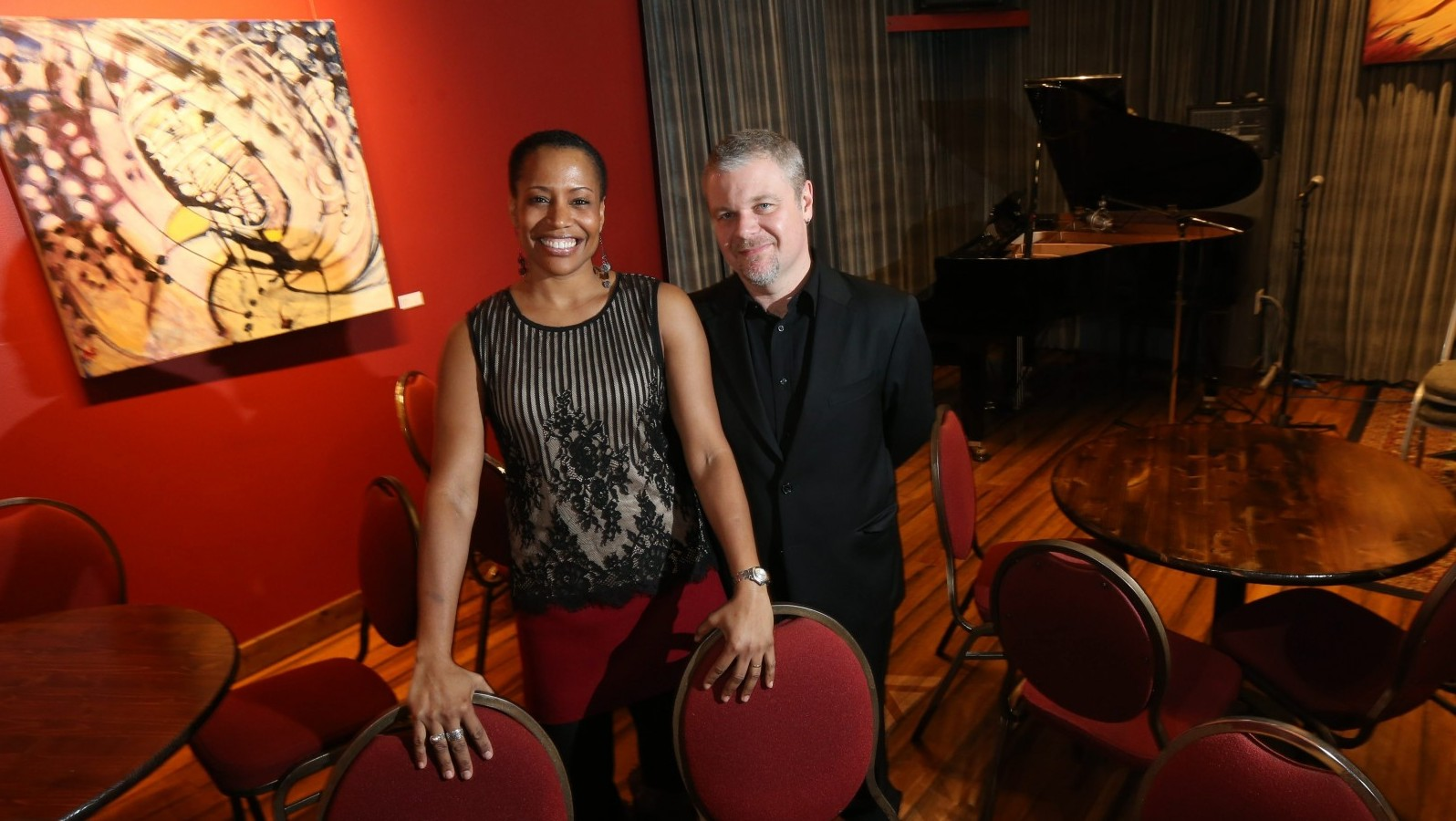 Lazara and Jon Nelson opened Pausa Art house three years ago in a renovated home on Wadsworth Street in Allentown. (Sharon Cantillon/Buffalo News)