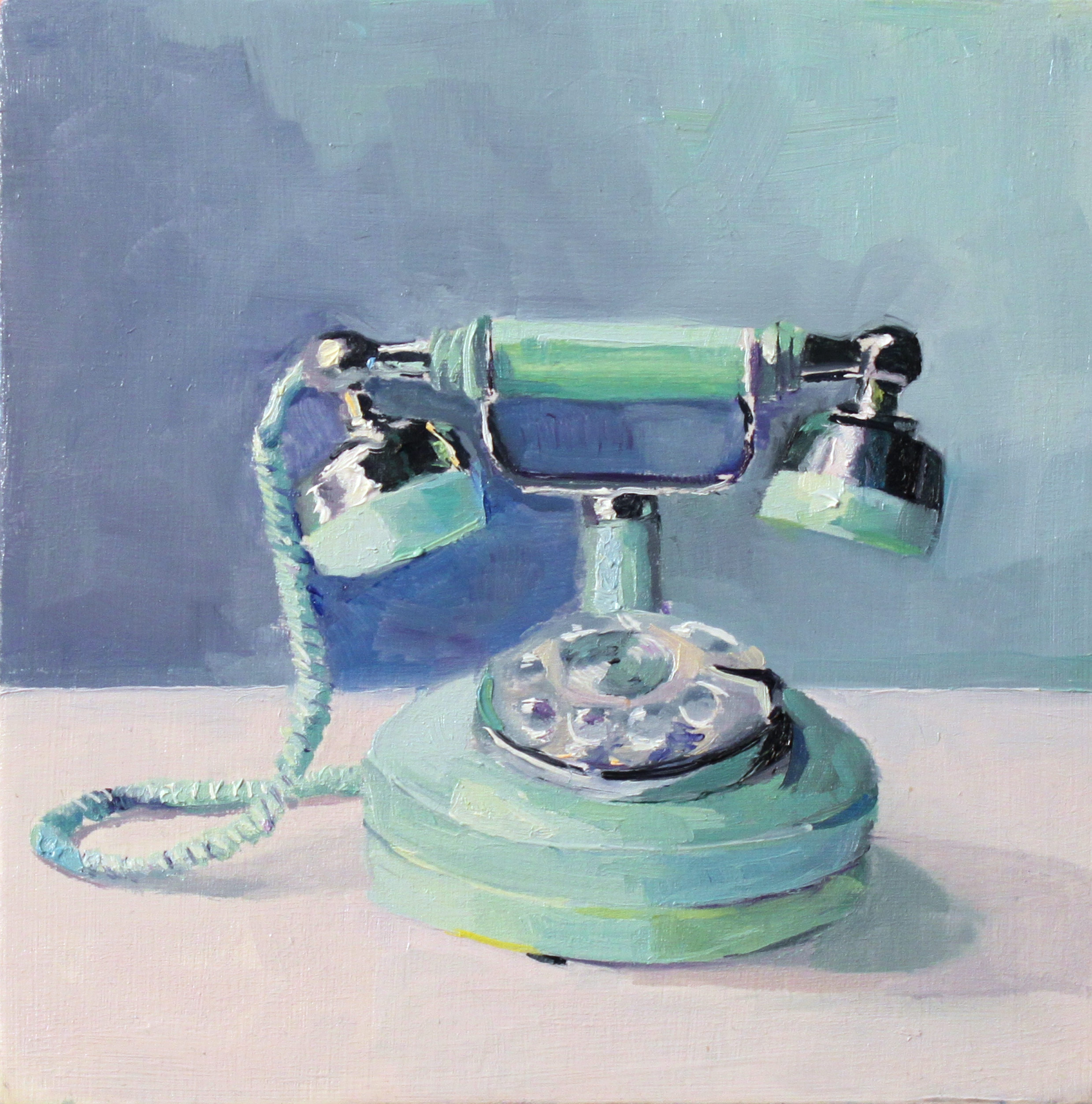 """Sara M. Zak's painting """"Call From a French Princess"""" is on view in the tiny 716 Gallery."""