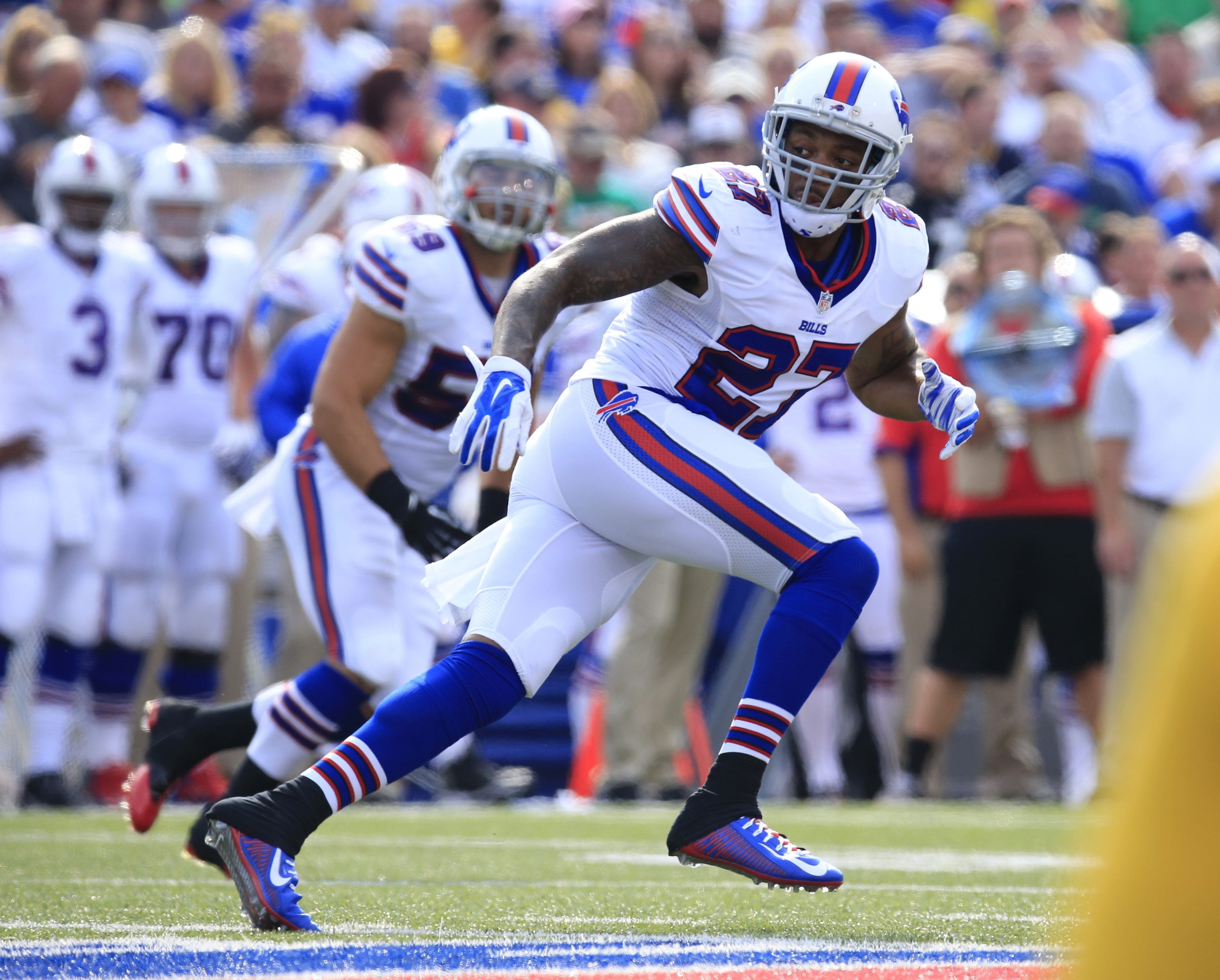 Buffalo Bills Duke Williams during first half action against the Pittsburgh Steelers at Ralph WIlson Stadium on Saturday, Aug. 29, 2015.  (Harry Scull Jr./Buffalo News)
