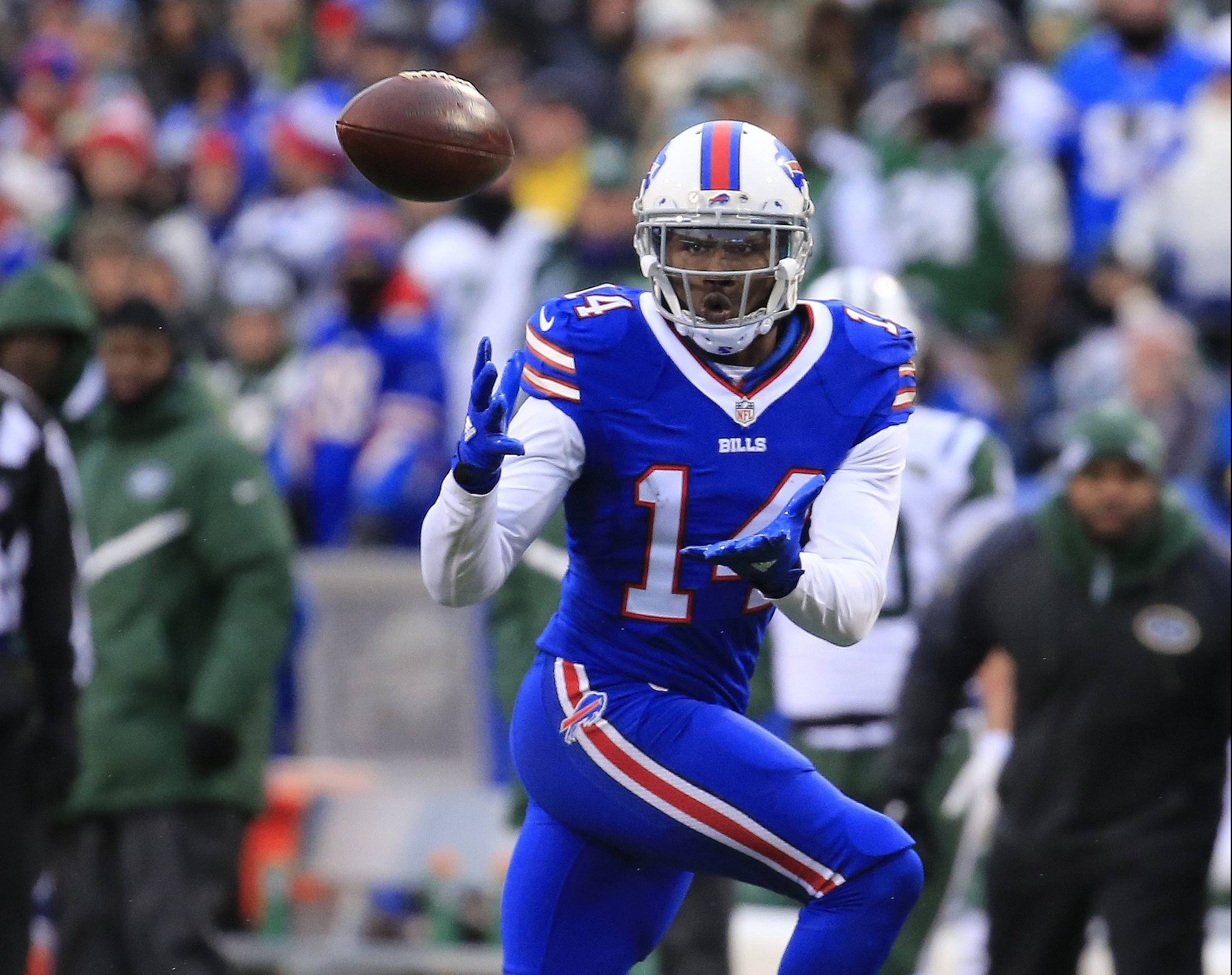 Sammy Watkins emerged in the second half of the season, leading the Bills with 60 receptions..
