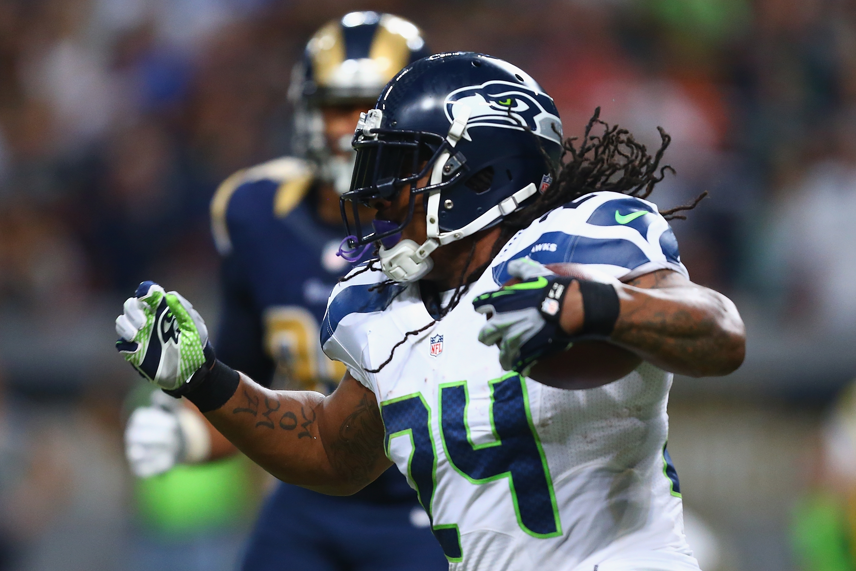 It'll be a big boost for the Seahawks if Marshawn Lynch is ready to return after undergoing abdominal surgery in November. (Getty Images)