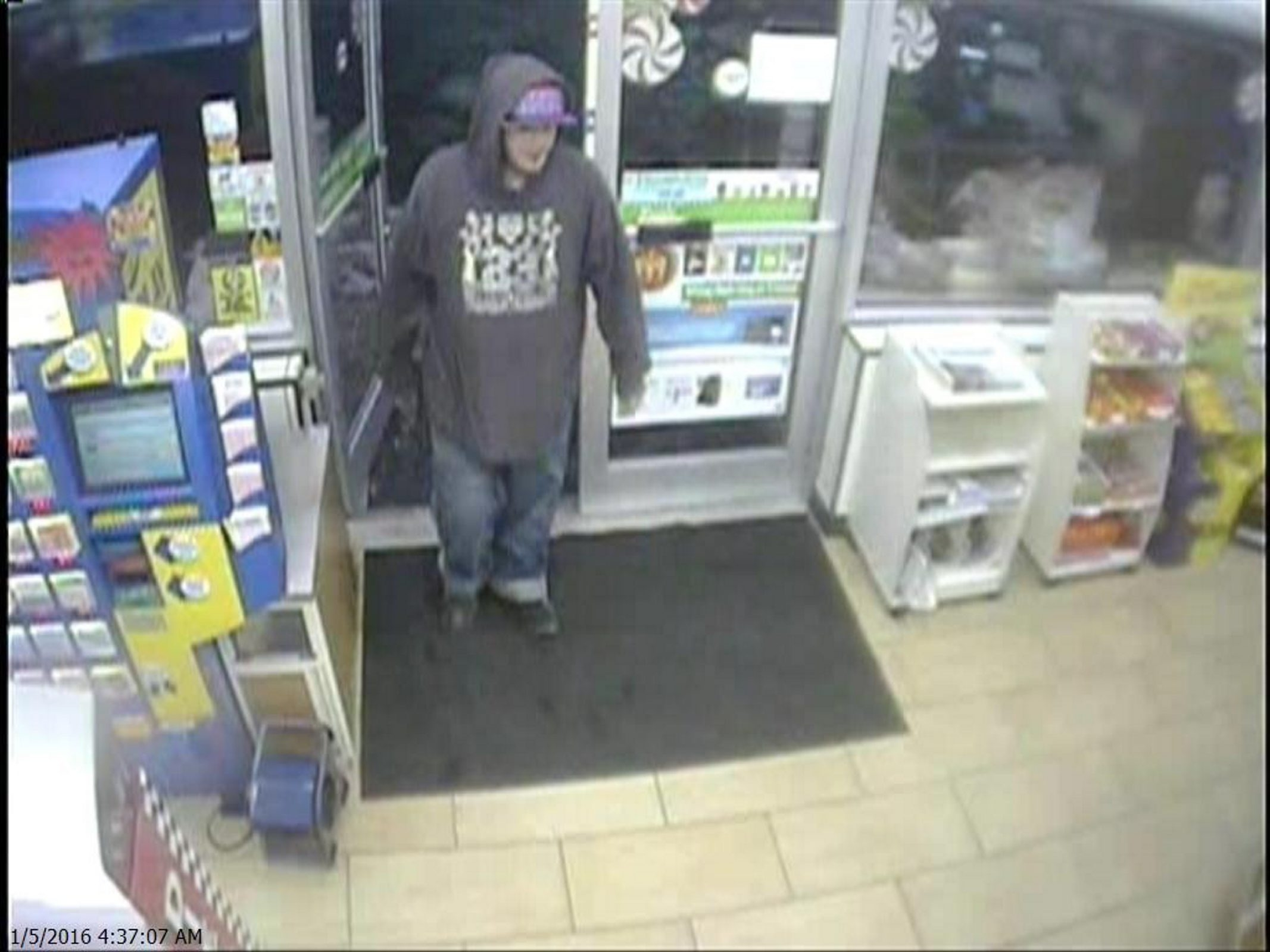 Photo of holdup suspect from surveillance camara provided by Niagara County Sheriff's Office.