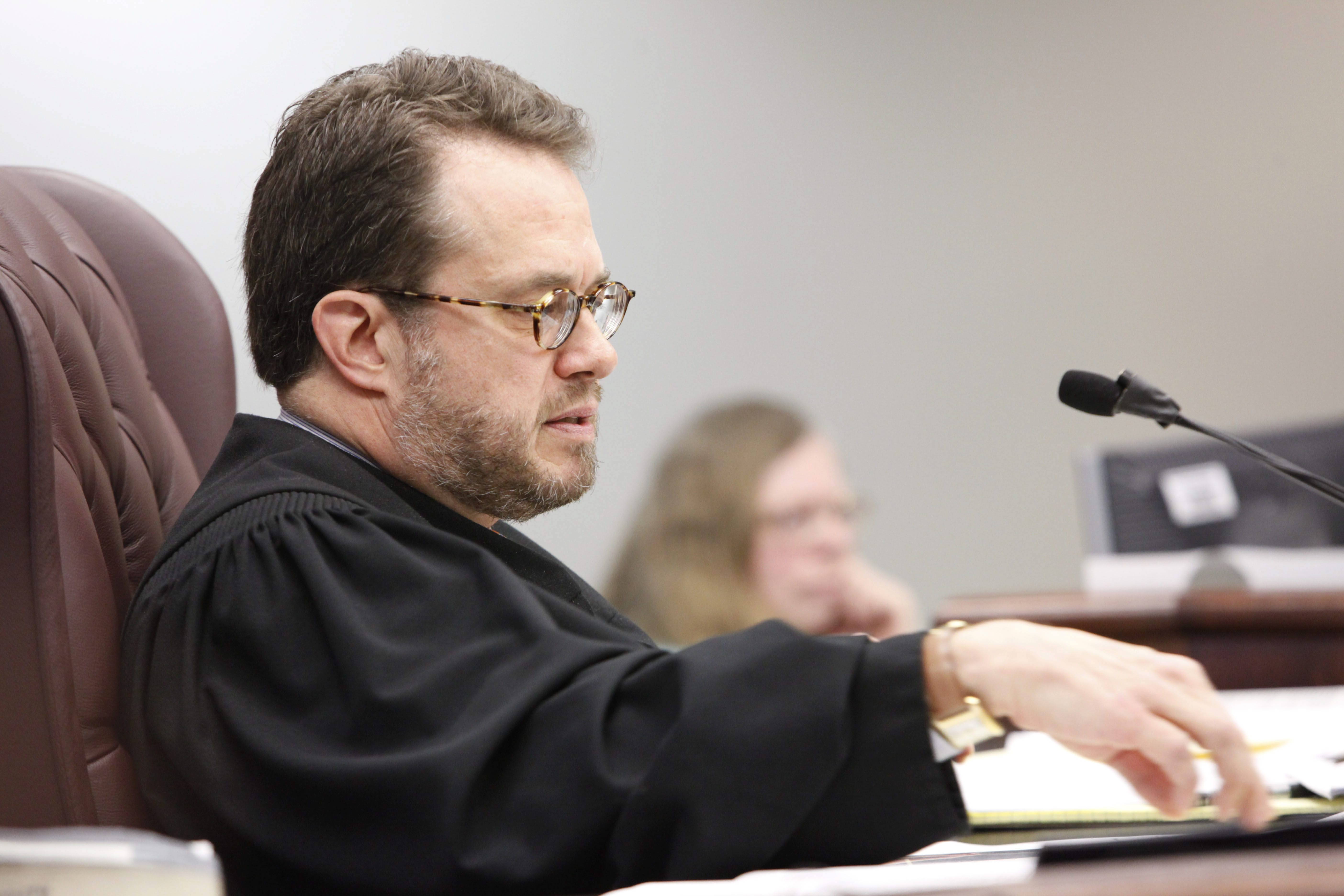 Erie County Judge Thomas Franczyk, shown presiding at a trial in a file photo,  has decided against running for district attorney. (Derek Gee/Buffalo News)