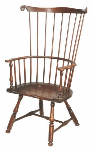 This Comb Back Windsor Chair Was Made In Pennsylvania In The Late 18th  Century.