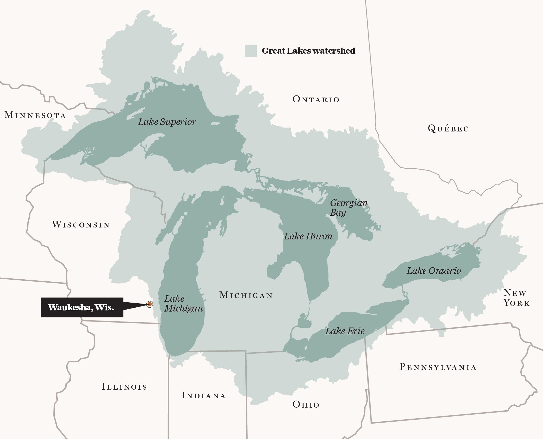 Waukesha, Wis., is applying for water diversion from Lake Michigan.