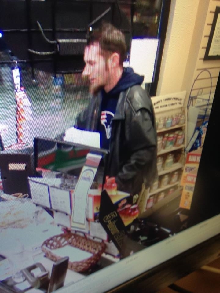 Hamburg police are looking for the suspect who robbed a gas station Wednesday night. (Hamburg police)