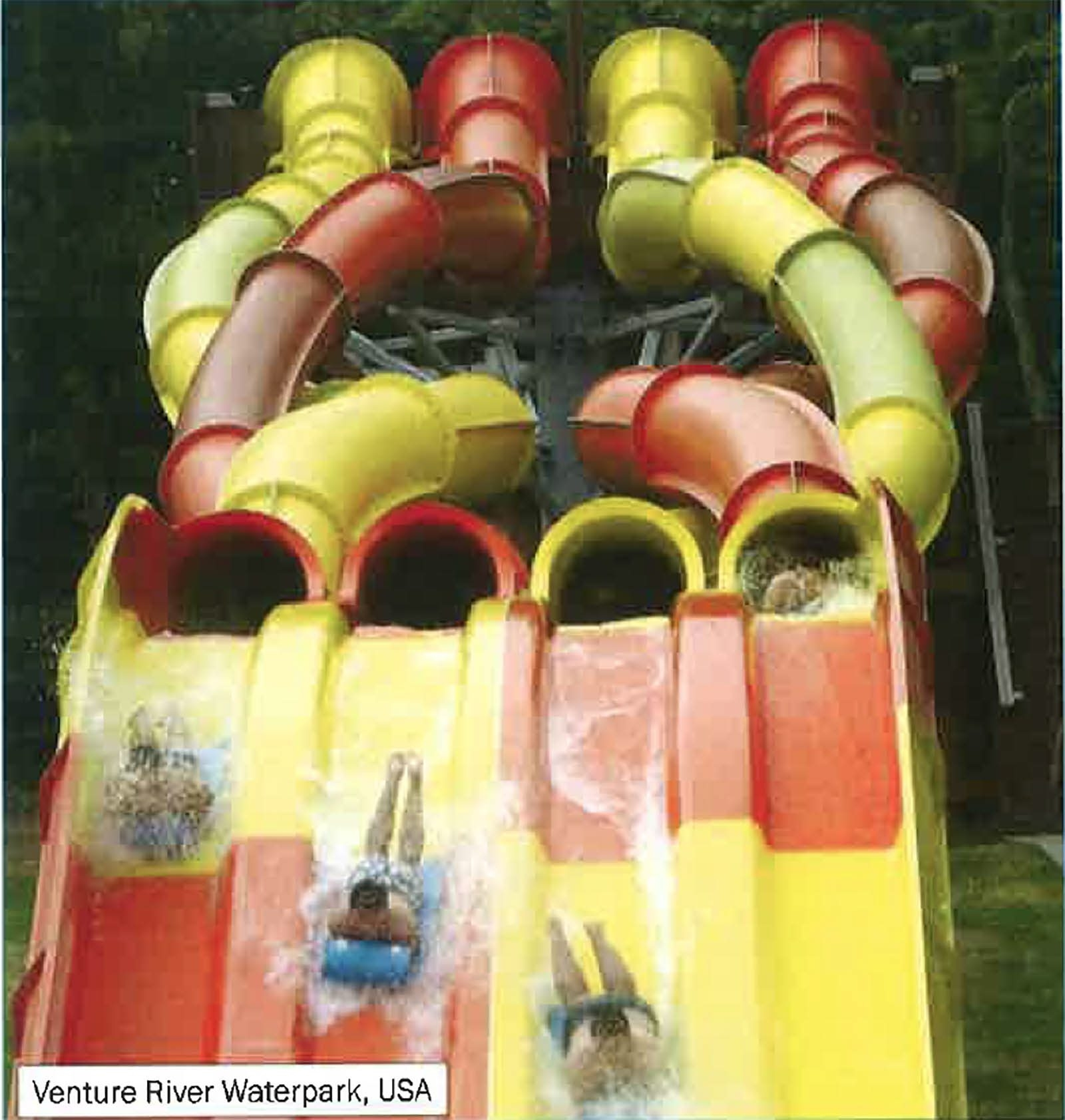 A water slide like this one in Venture River Waterpark in Eddyville, Ky., is being planed for Darien Lake.