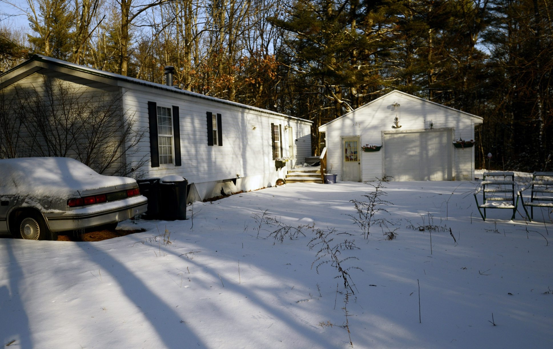 Atkins Lane in Wells, Maine, where police found the body of Lucie McNulty, a retired Williamsville music teacher. Police believe McNulty died in the home more than two years ago. (Photo by Shawn Patrick Ouellette/Portland Press Herald)