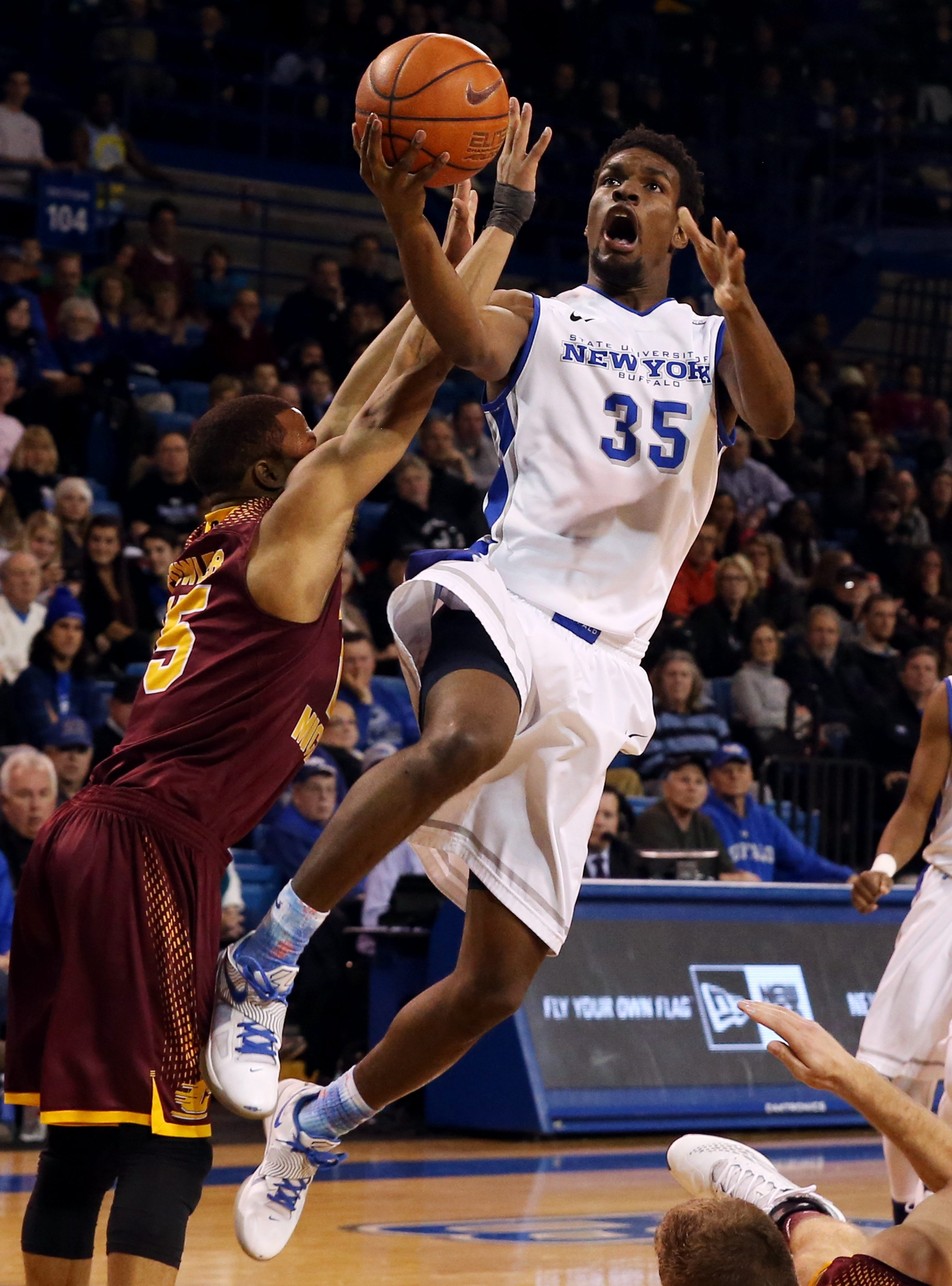 UB forward Xavier Ford will need to score some points against Central Michigan on Saturday.