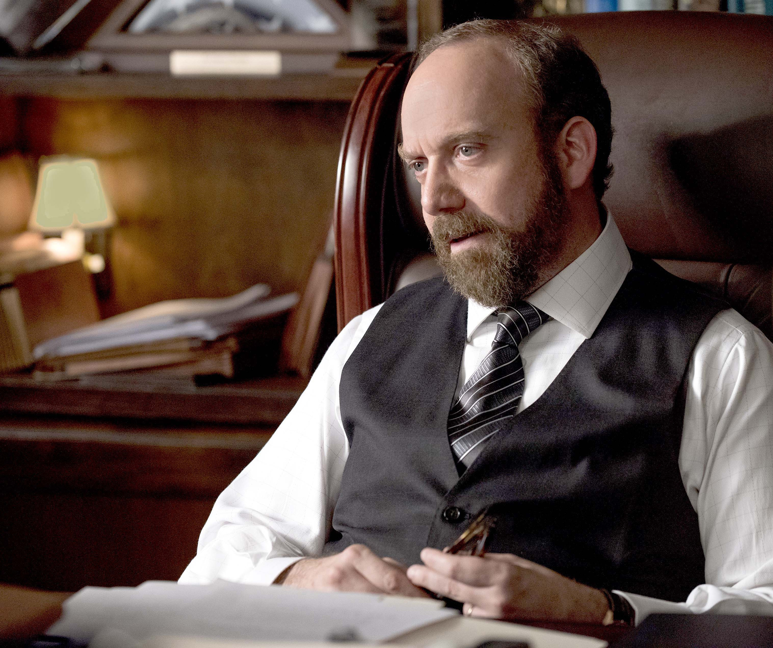 "Paul Giamatti plays a relentless U.S. attorney in pursuit of a hedge-fund king in Showtime's ""Billions,"" premiering Jan. 17. (Jeff Neumann/Showtime)"
