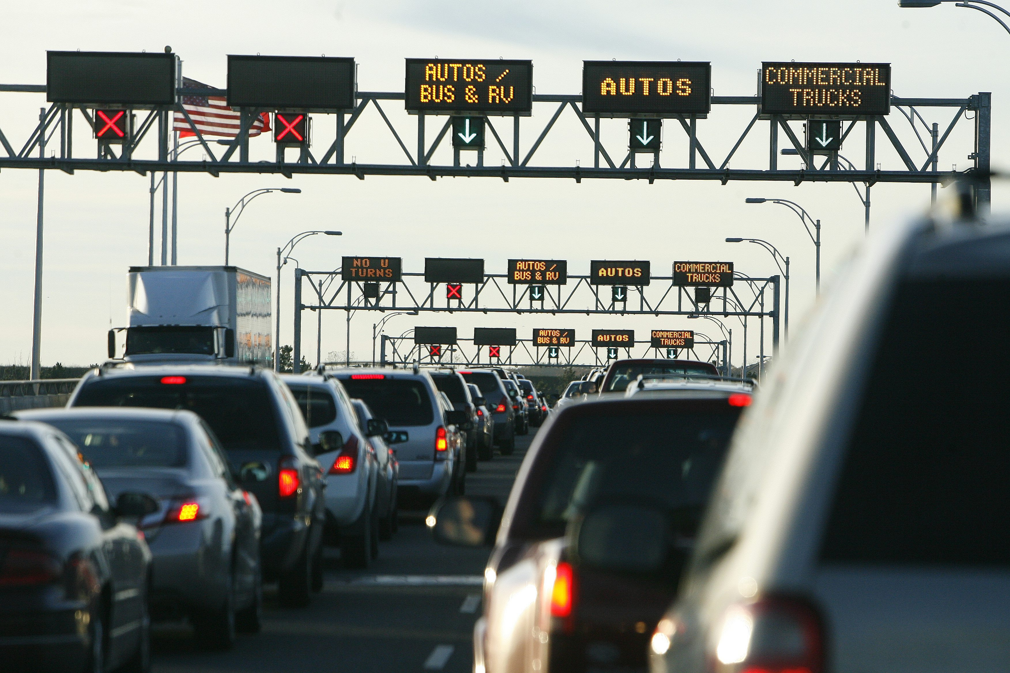 A News file photo shows traffic backed up on the Lewiston Queenston Bridge. (Buffalo News file photo)
