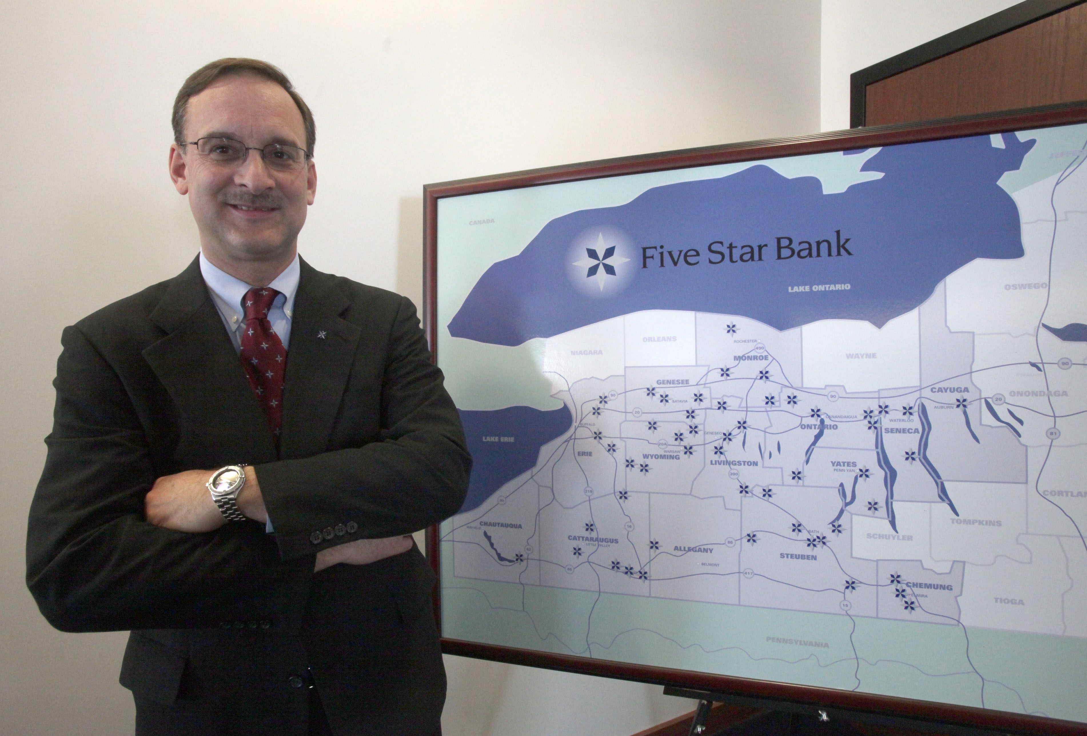 Peter Humphrey was a longtime CEO and president of Five Star Bank. He retired in August 2012.