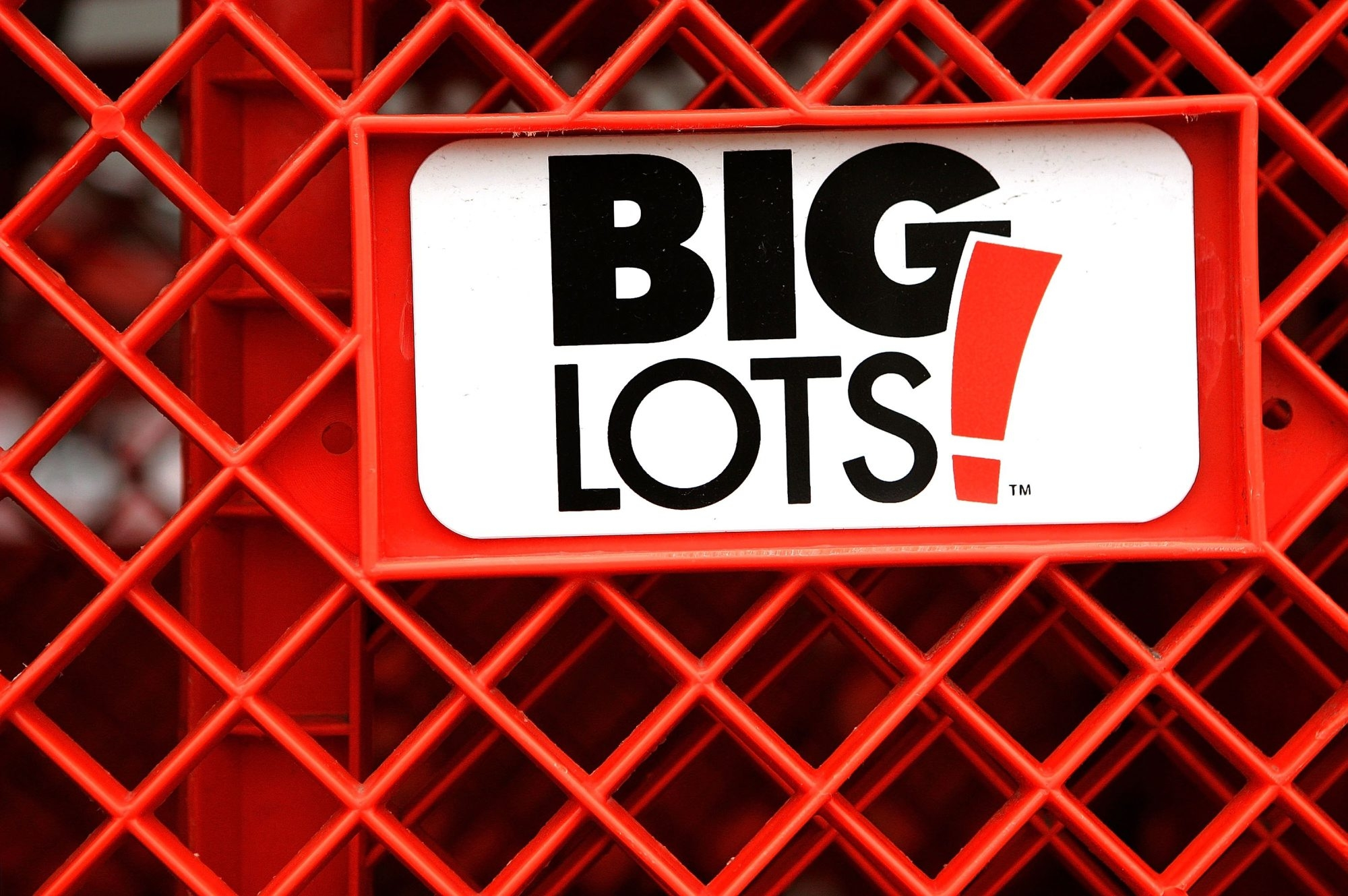 Big Lots' logo is displayed on one of the store's shopping carts in Niles, Ill.
