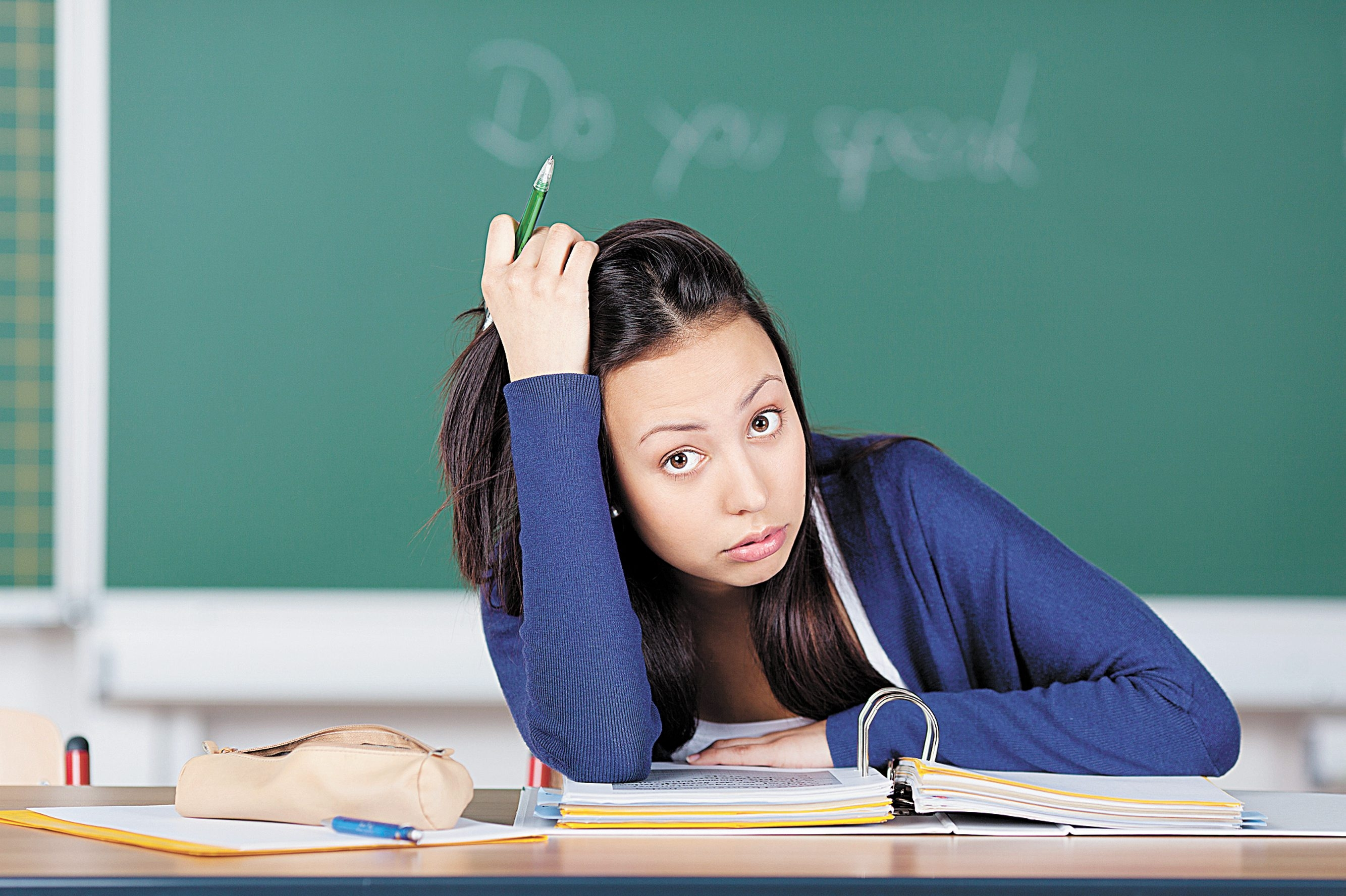 Depositphotos  unhappy female student having stress at school