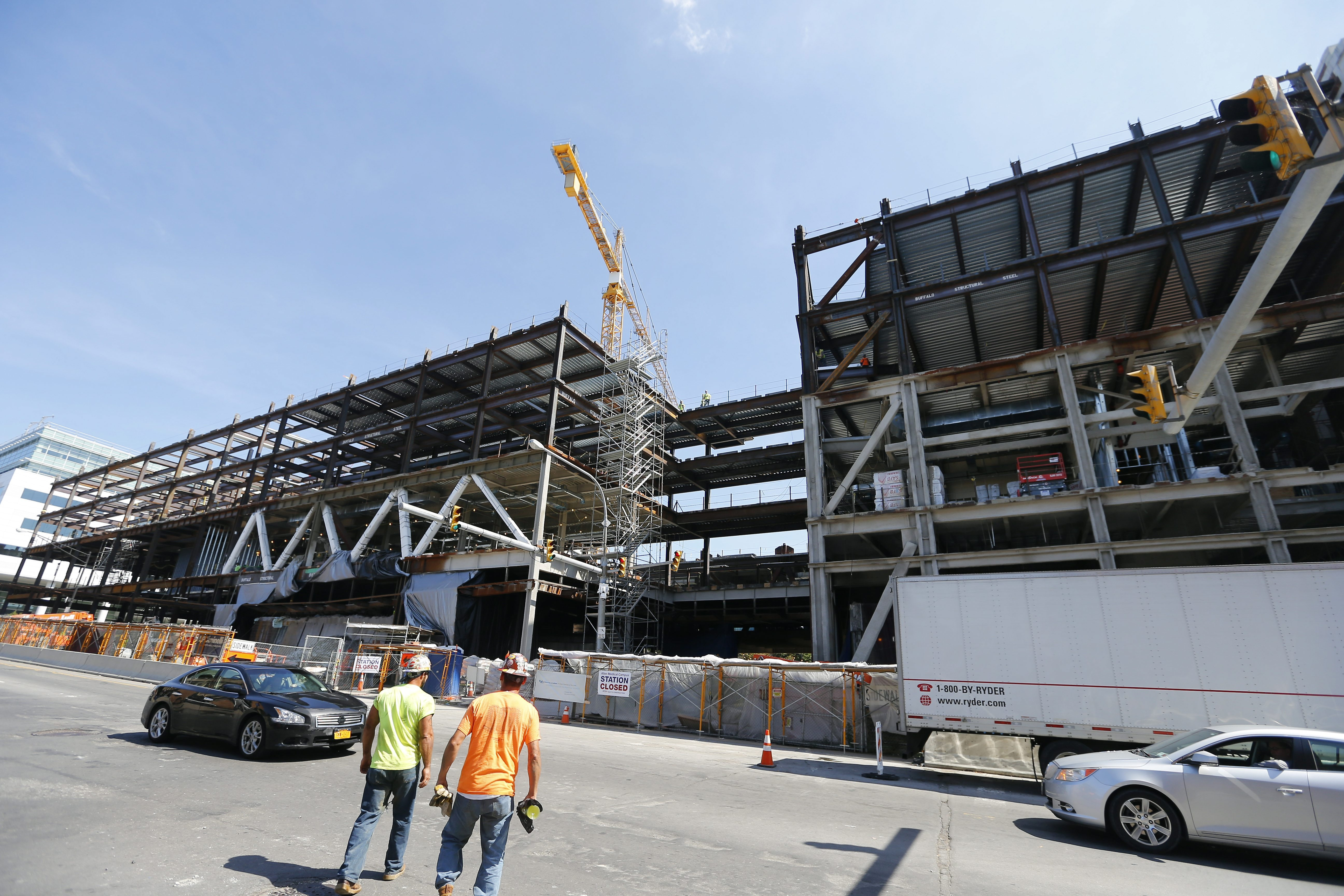 Construction jobs contributed to the strong year of hiring in 2015 in the Buffalo Niagara region. (Mark Mulville/Buffalo News)