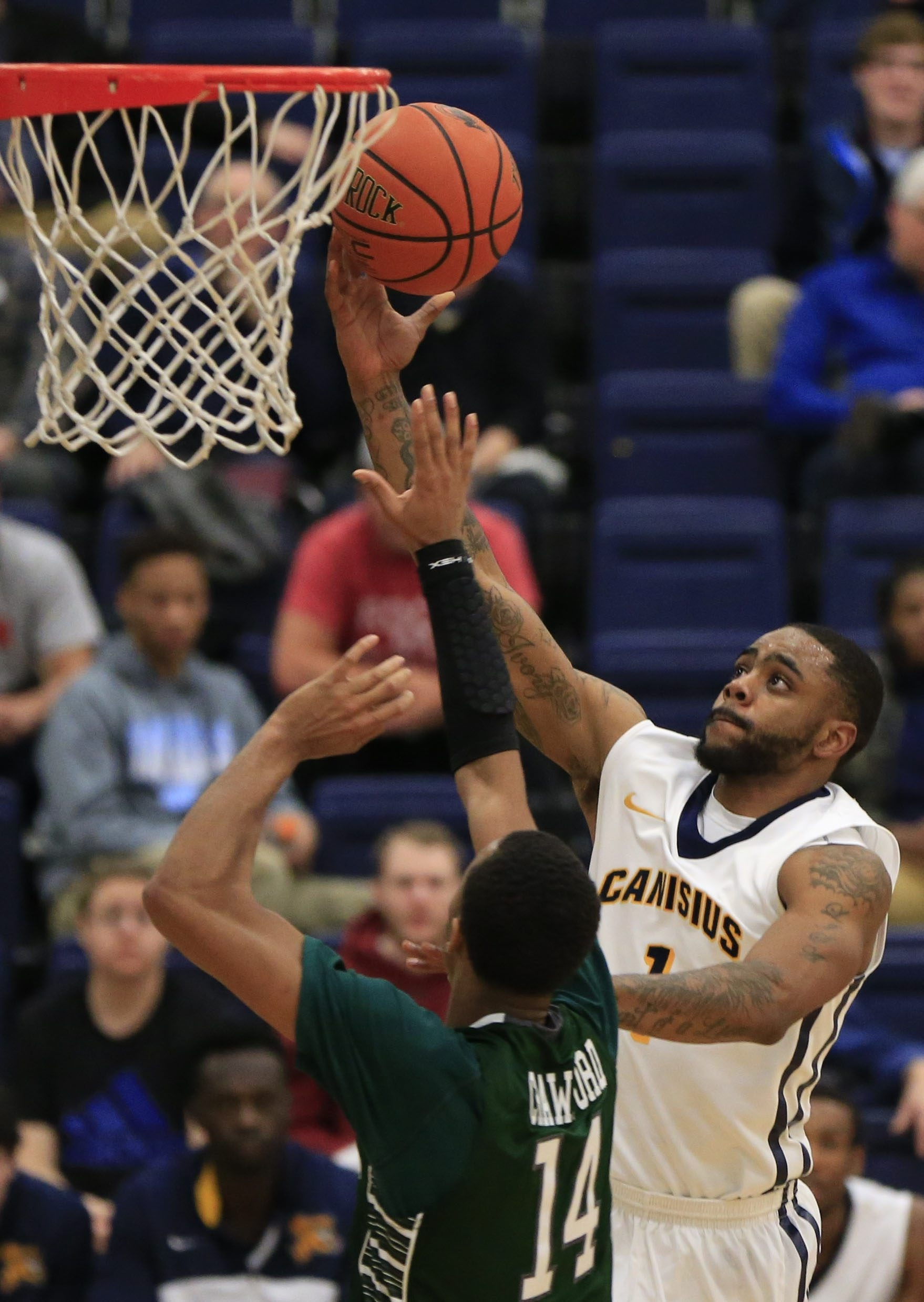 Canisius guard Malcolm McMillan averages a team-high 16 points for the Golden Griffins.  (Harry Scull Jr./Buffalo News)
