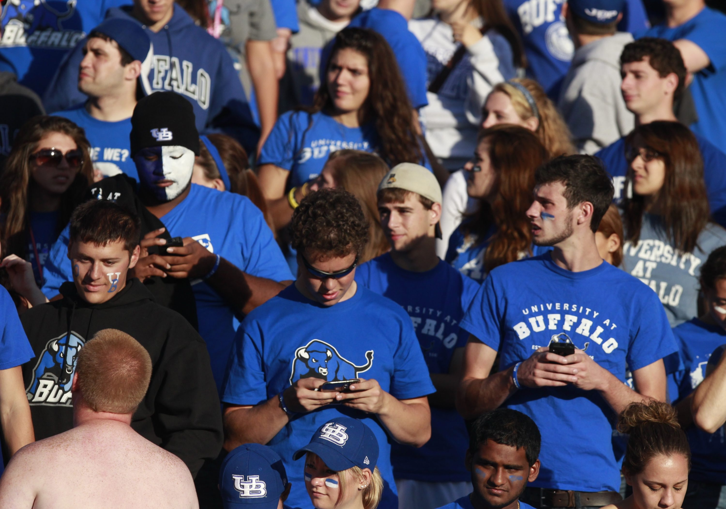 A file photo of UB  fans at a football game at home. (News file photo)