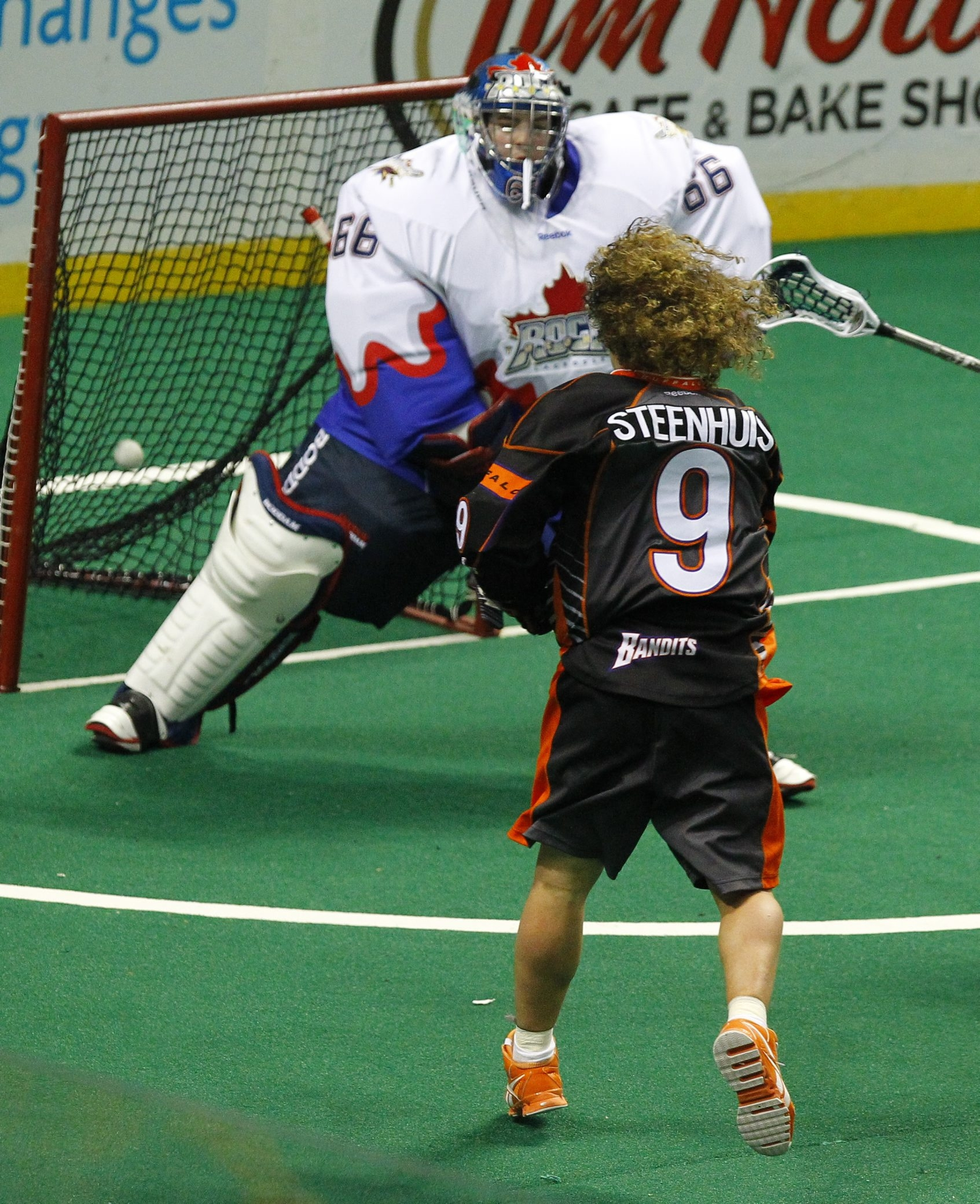 This goal against the Toronto Rock in 2013 is one of 400 that Mark Steenhuis has scored in his distinguished NLL career. (Photo by John Hickey / Buffalo News)