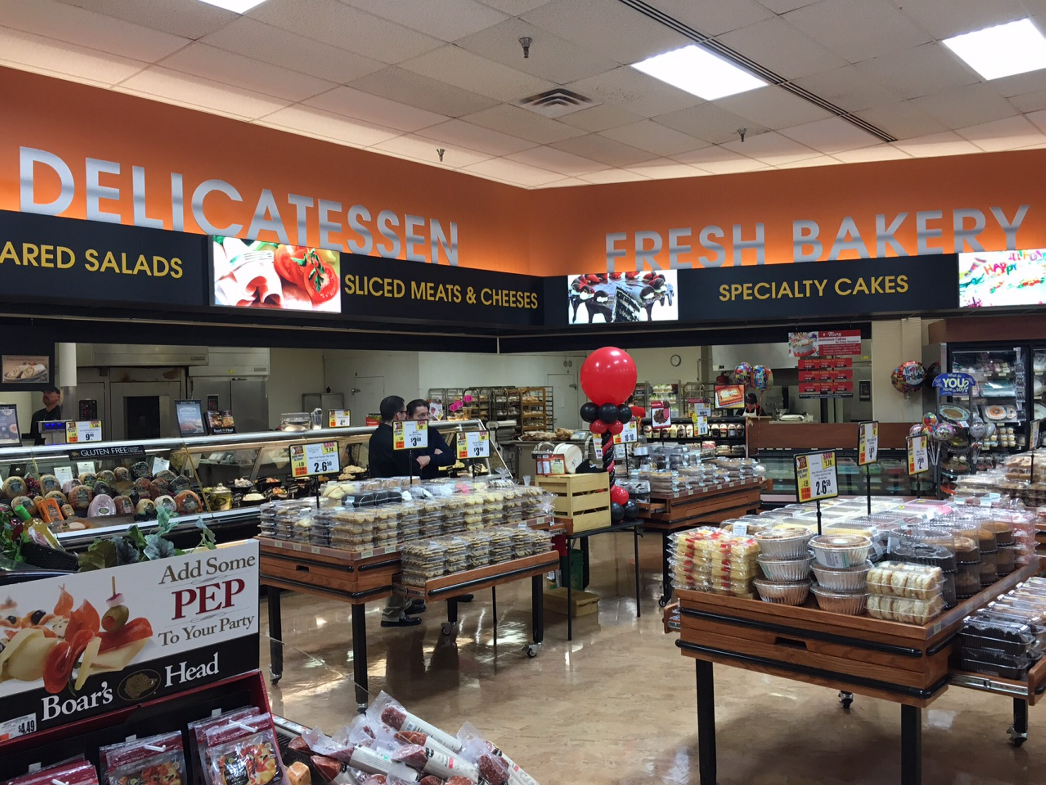The renovated Tops store in Farmington, near Riochester, includes a new bakery and deli.