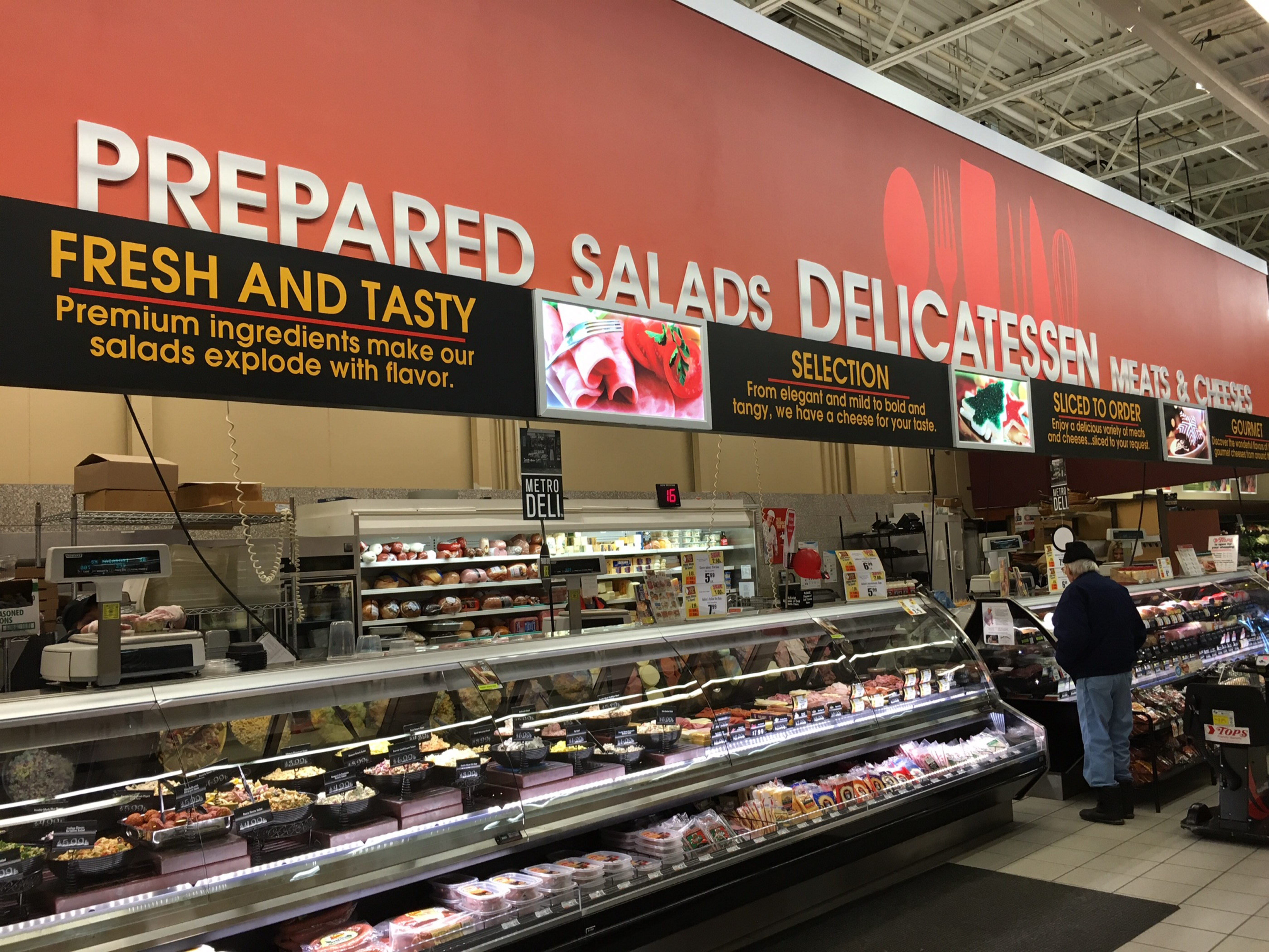 The deli is among the newly remodeled features at the Tops store in Lewiston.