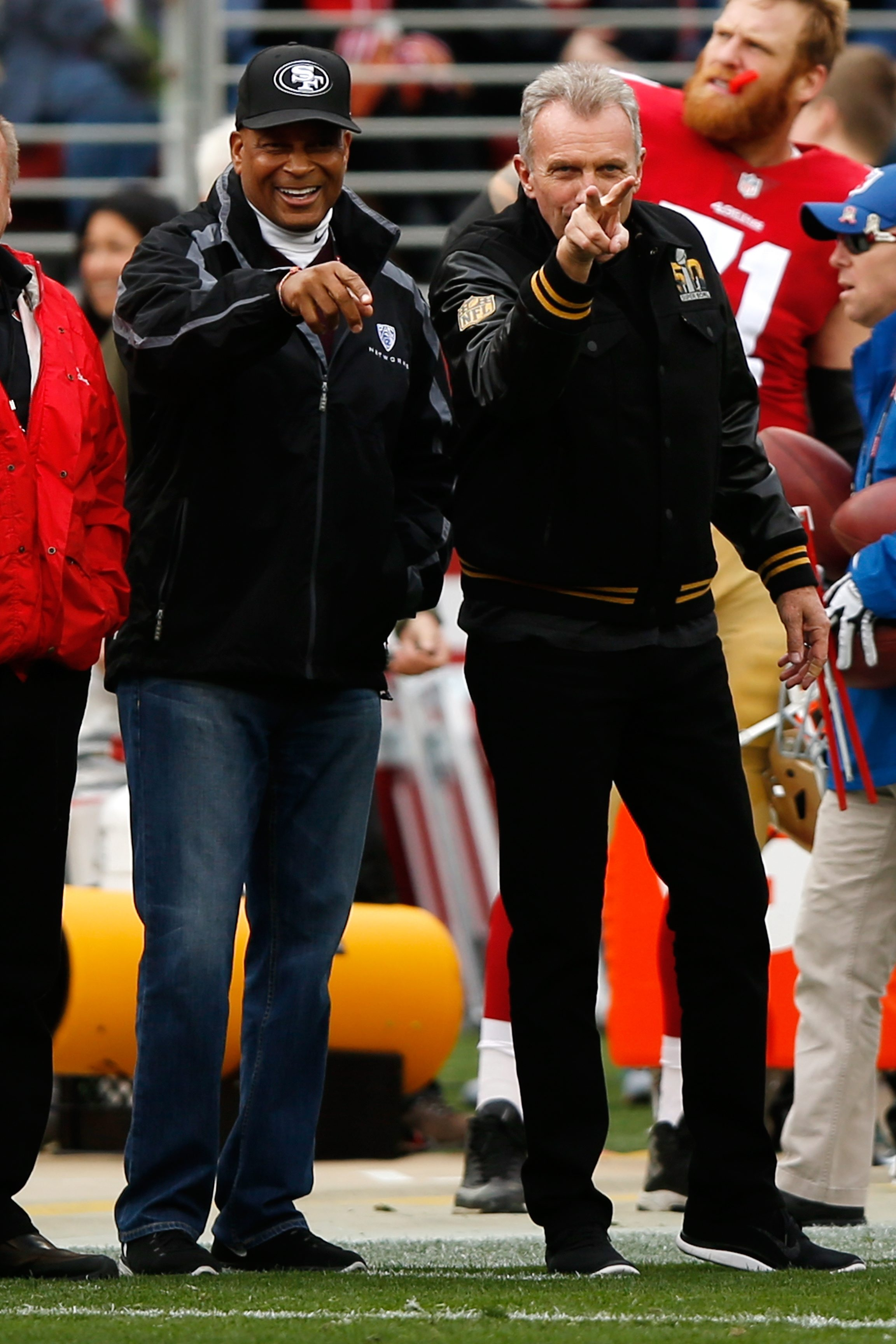 Former San Francisco 49ers Ronnie Lott, left, and Joe Montana will always be remembered for their Super Bowl performances.