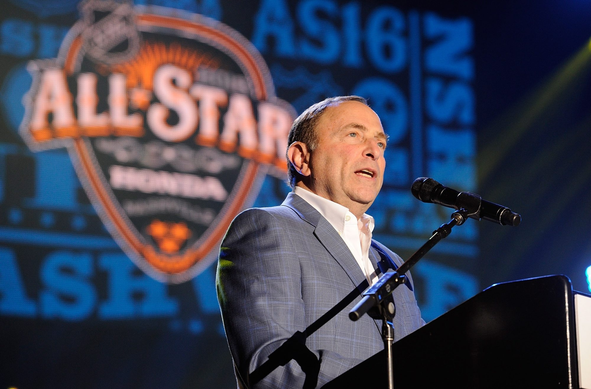 Gary Bettman said the league has yet to discuss changes to the All-Star voting process after John Scott was voted on the Pacific Division team.